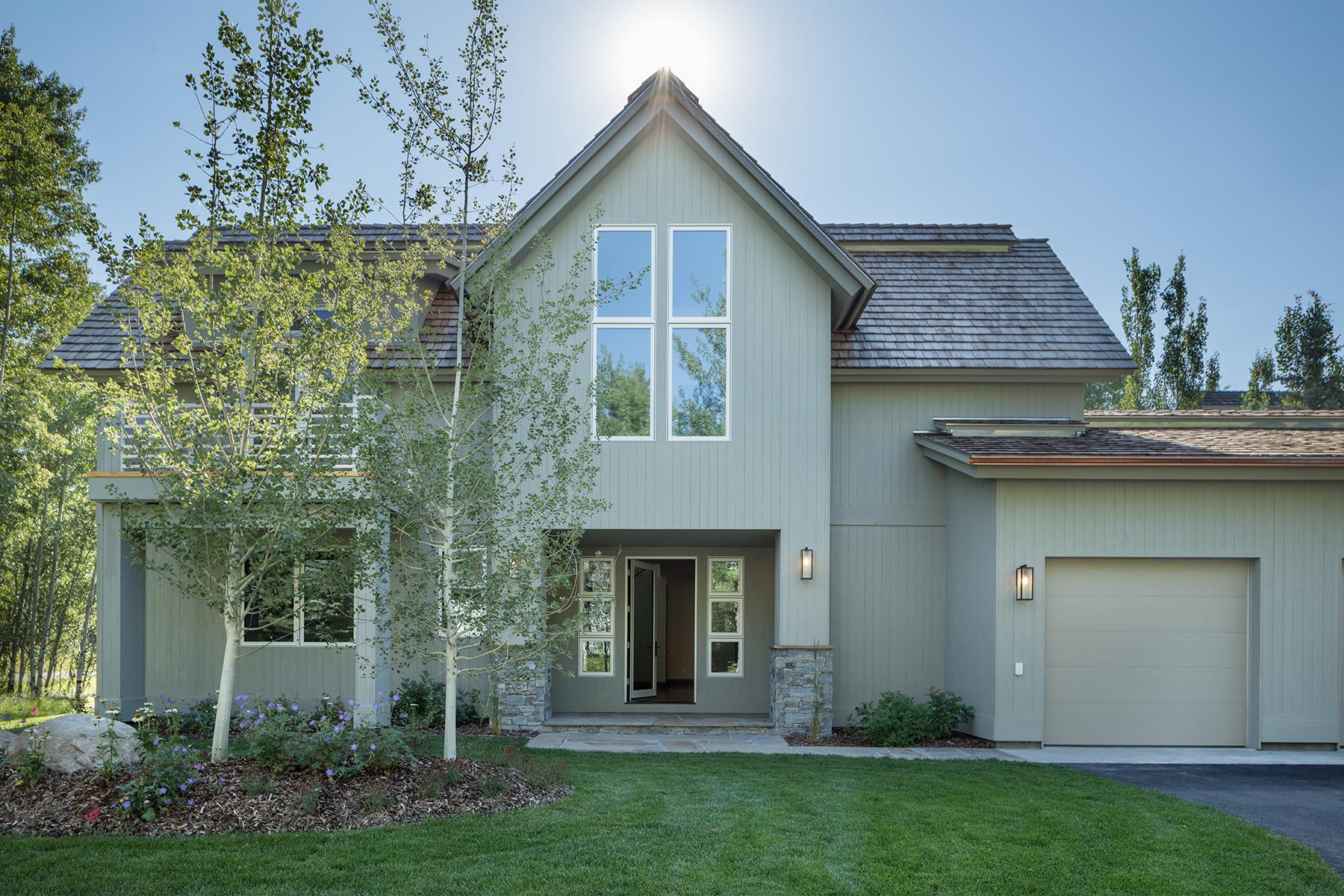 独户住宅 为 销售 在 Newly Constructed Cluster Home 2980 Aspen Wood Lane, 威尔逊, 怀俄明州, 83014 Jackson Hole, 美国