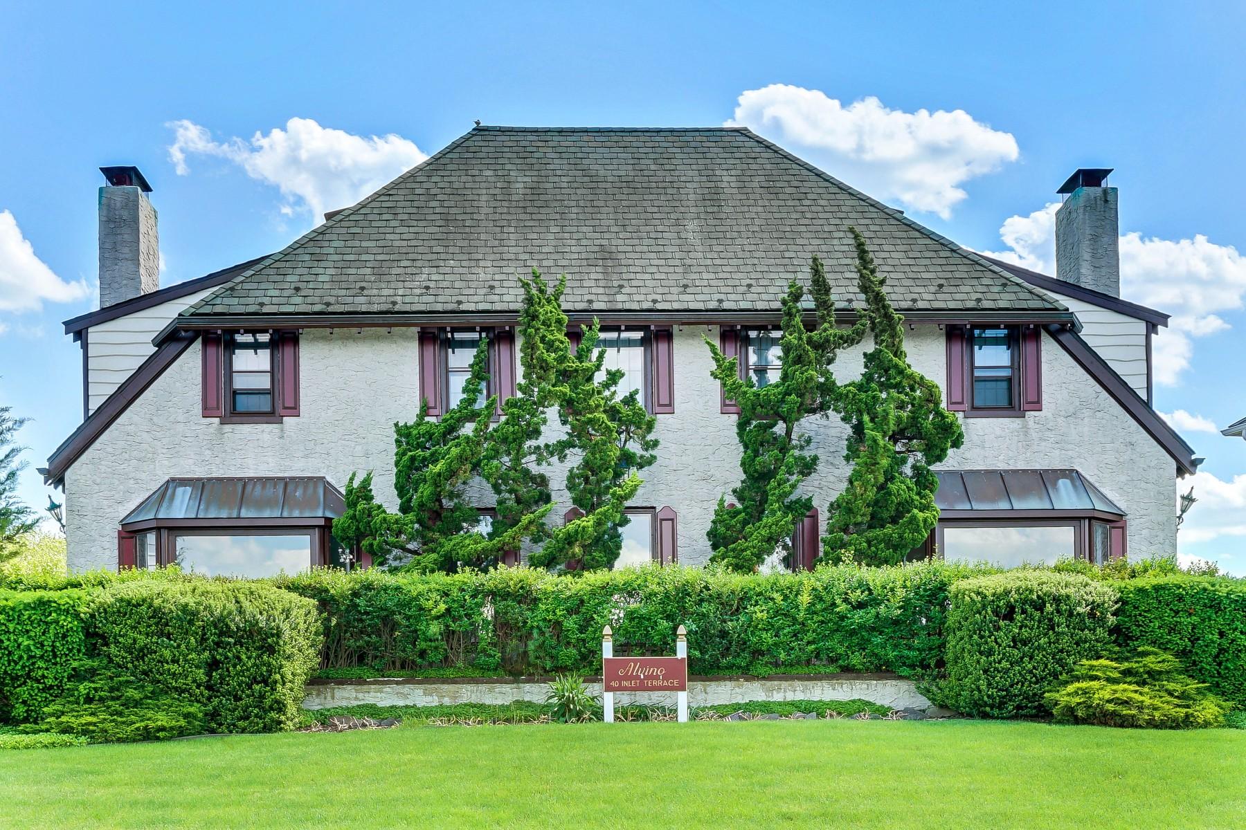 一戸建て のために 売買 アット Waterfront Estate 40 Inlet Terrace Belmar, ニュージャージー 07719 アメリカ合衆国