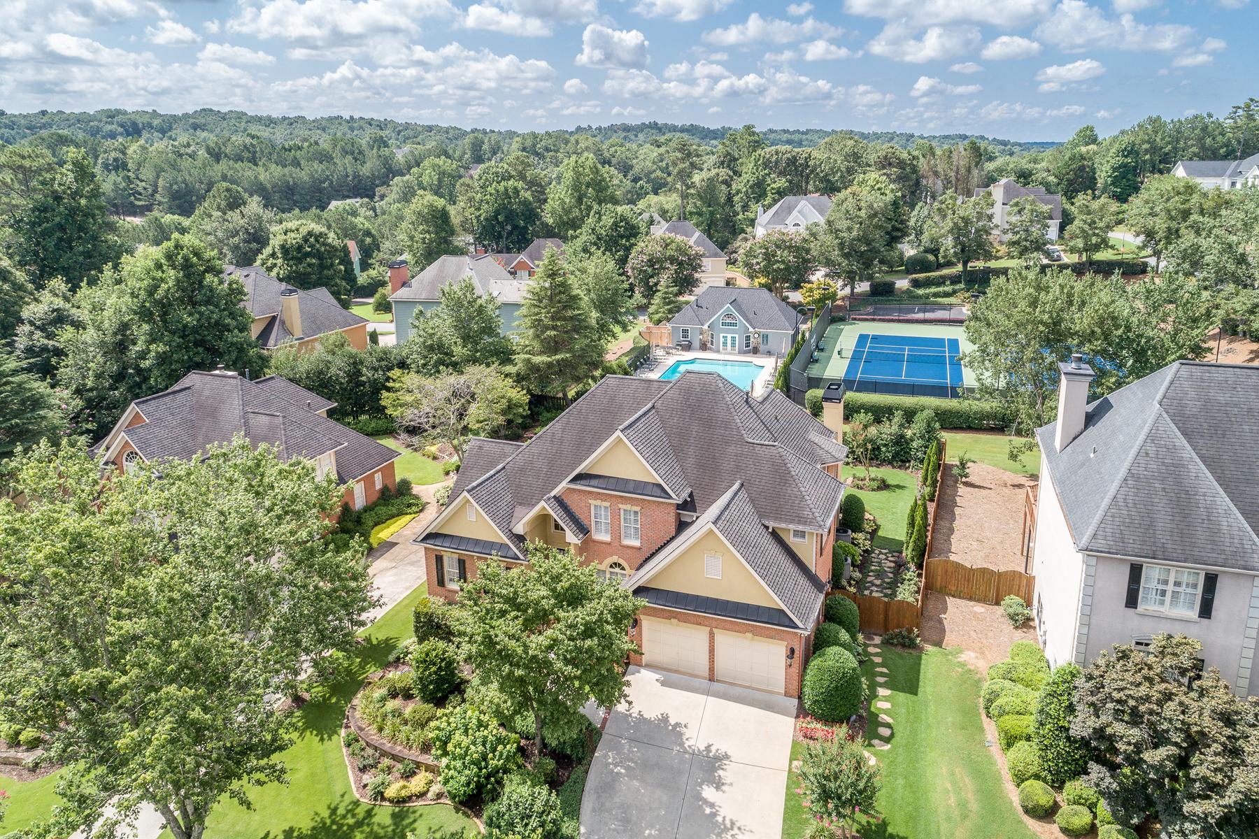 Single Family Home for Sale at Pristine Master on Main Home in the Bridgewater Community 3375 Merganser Ln Alpharetta, Georgia 30022 United States