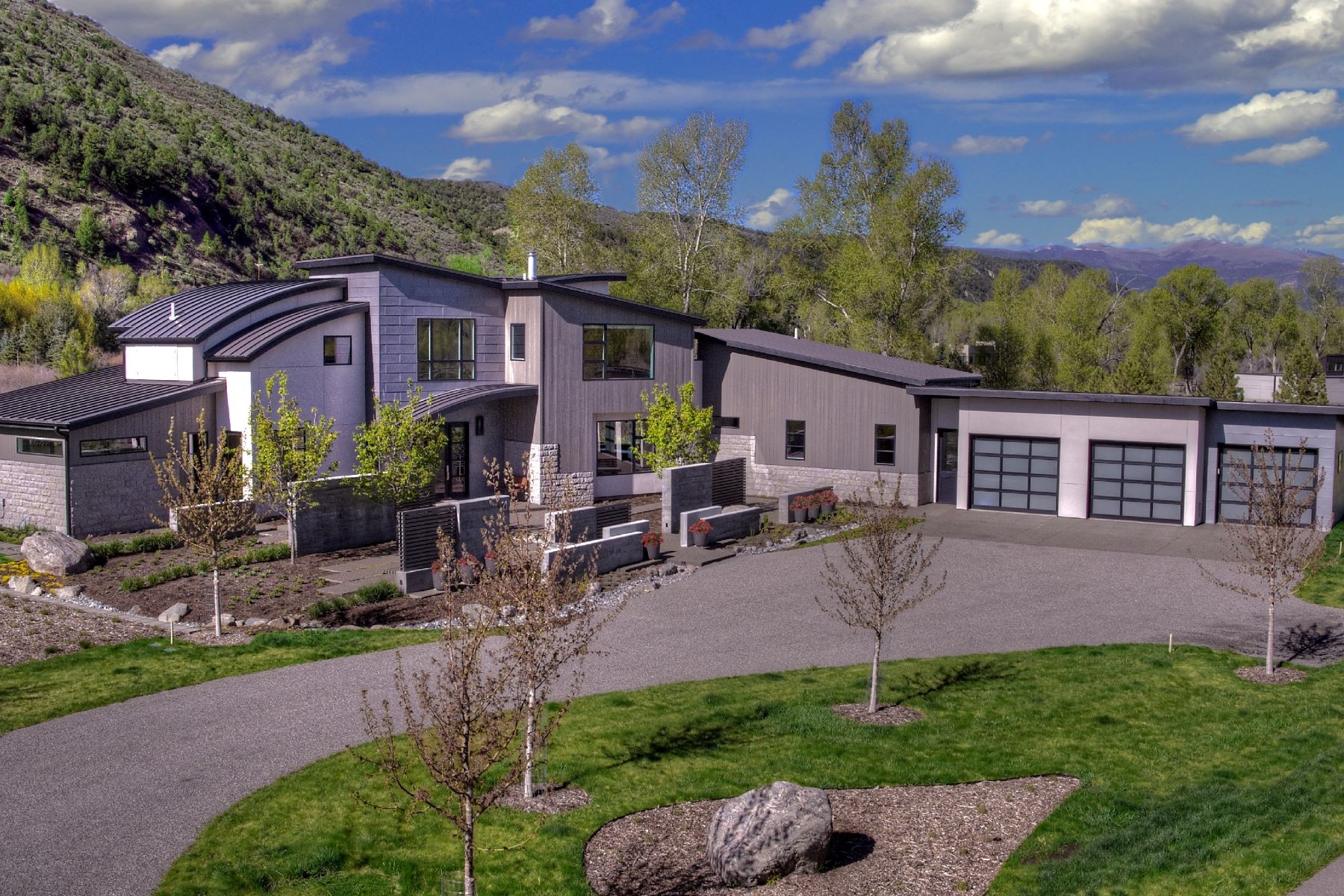 Single Family Homes for Sale at Contemporary Riverfront Gem 21 St Finnbar Farm Road Carbondale, Colorado 81623 United States