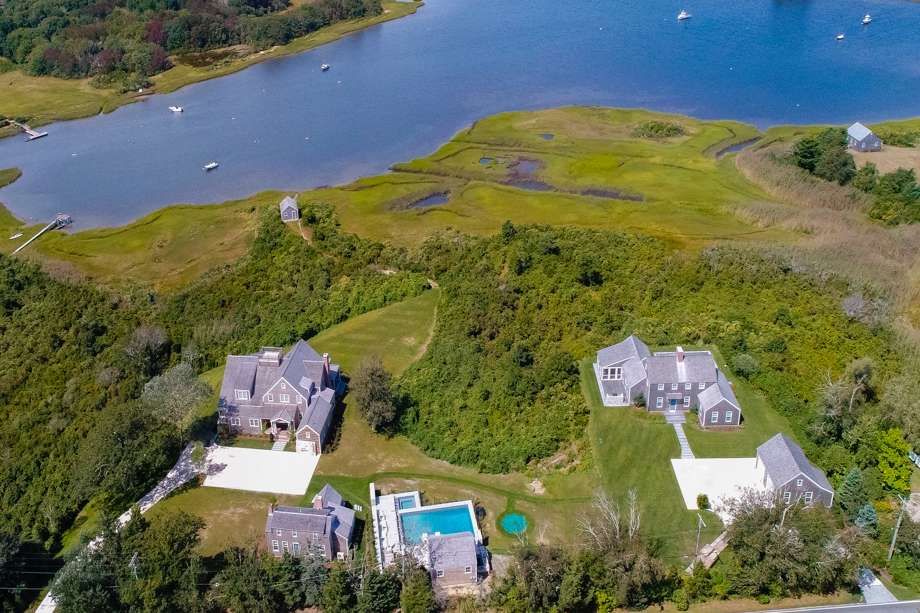 Single Family Homes for Active at Magnificent Nantucket Estate overlooking Polpis Harbor and Nantucket Harbor 248 & 250 Polpis Road Nantucket, Massachusetts 02554 United States