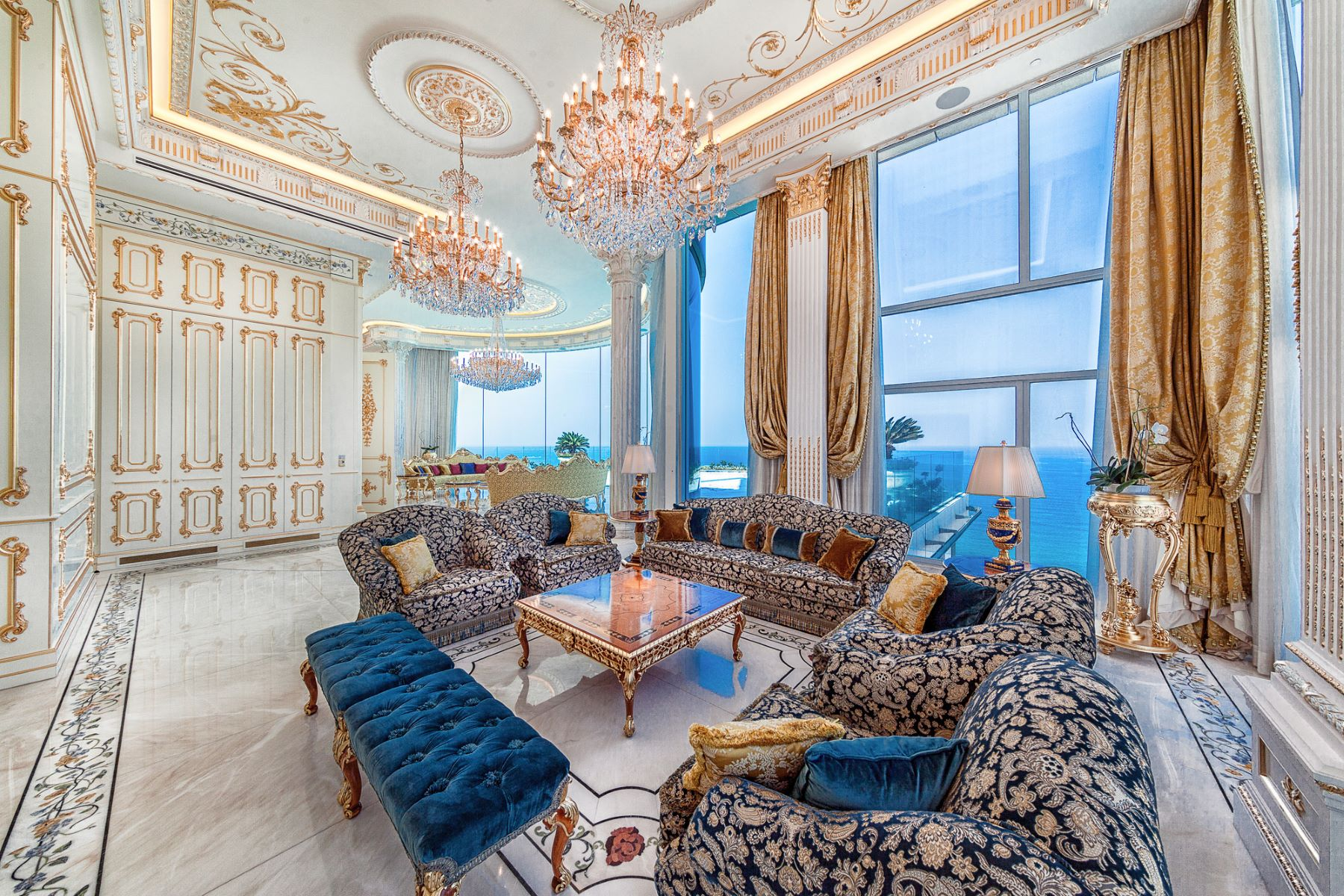 Apartment for Sale at Refined Seafront Baroque Style Penthouse Tel Aviv, Israel