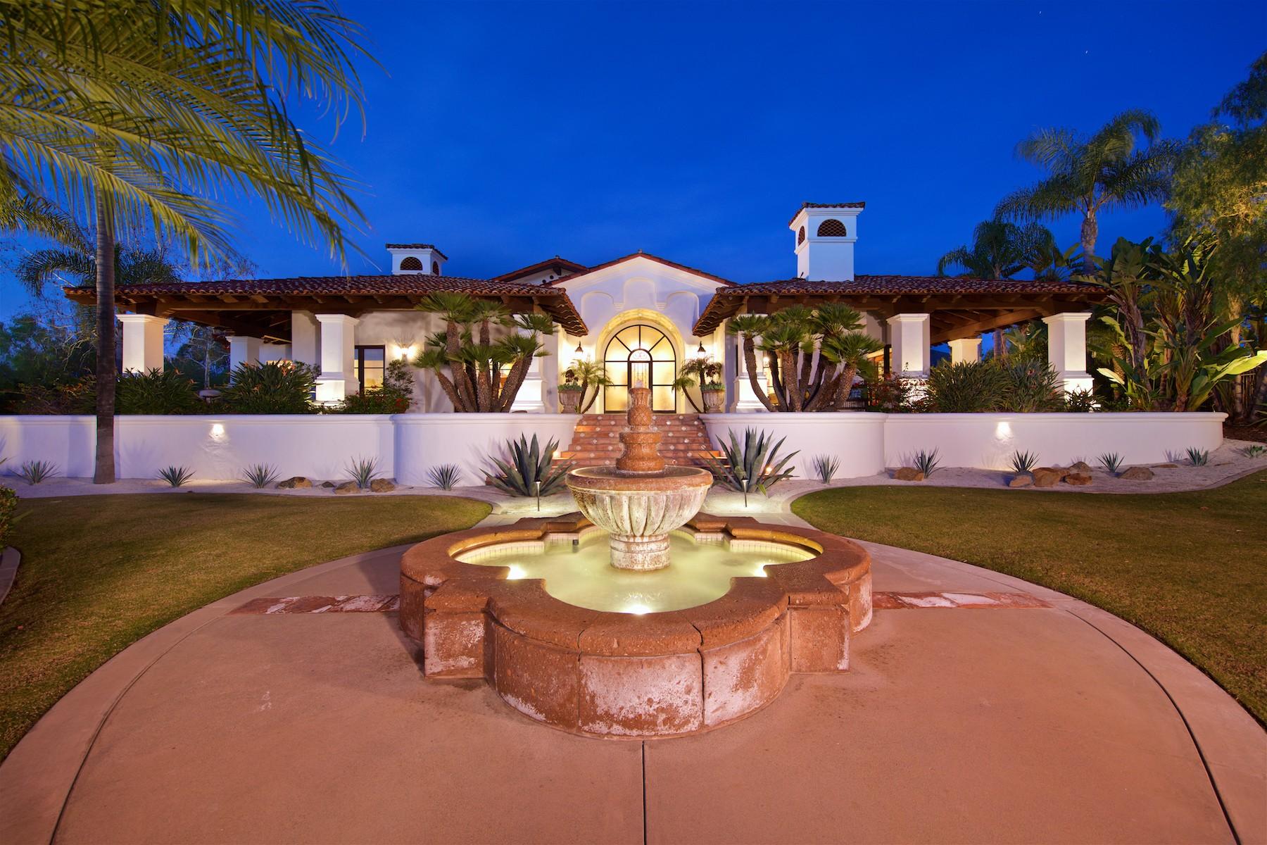 단독 가정 주택 용 매매 에 7152 Rancho La Cima Rancho Santa Fe, 캘리포니아, 92067 미국