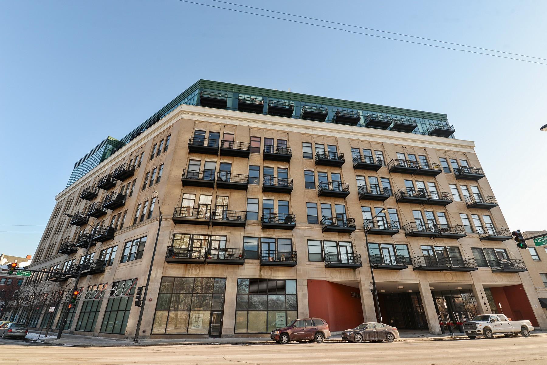 コンドミニアム のために 売買 アット Dramatic, Spacious and Stunning Loft 1645 W Ogden Avenue Unit 330, Near West Side, Chicago, イリノイ, 60607 アメリカ合衆国