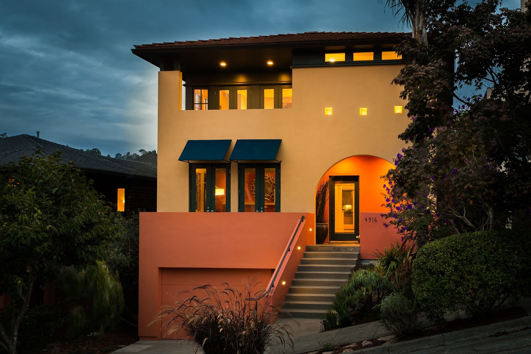 Single Family Home for Sale at Updated Contemporary & North Bay Views 4916 Cochrane Avenue Oakland, California 94618 United States
