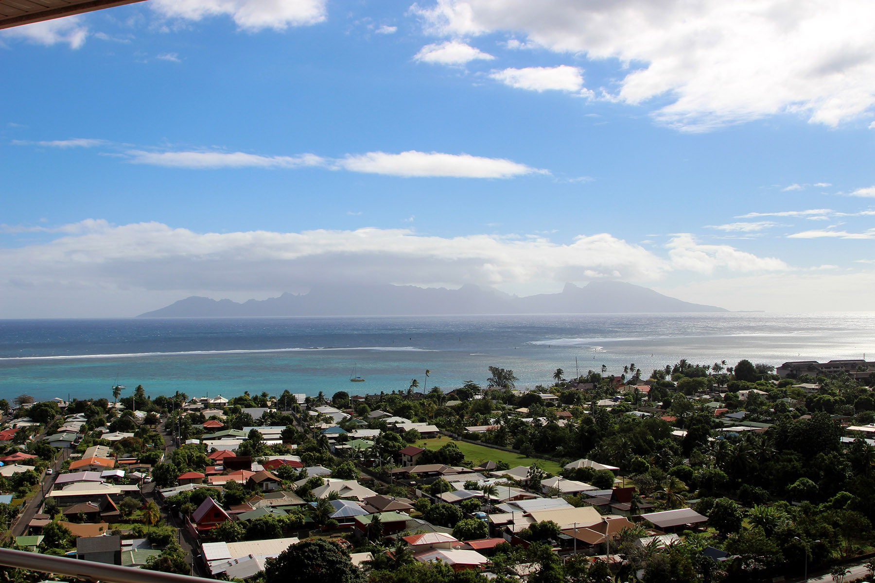 Single Family Home for Sale at Penthouse with private swimming-pool and Jacuzzi framing Moorea Tahiti, French Polynesia