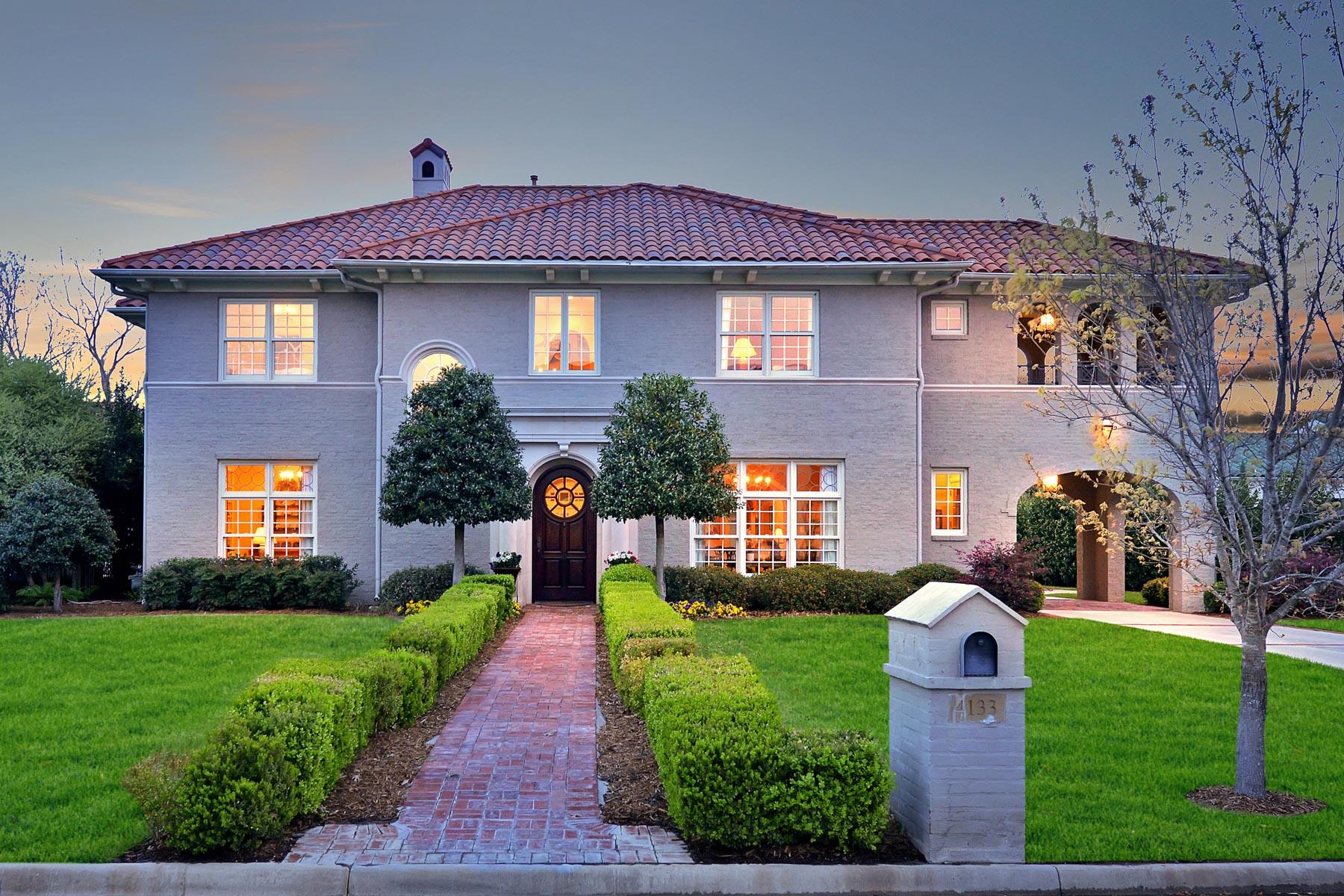 Частный односемейный дом для того Продажа на 4133 Idlewild Drive Fort Worth, Техас, 76107 Соединенные Штаты