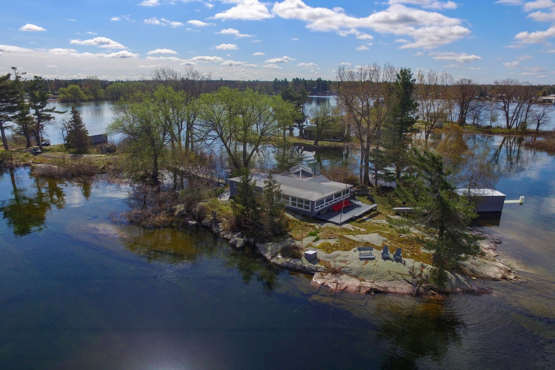 Single Family Homes for Active at 42563 Center Island Fishers, New York 13641 United States