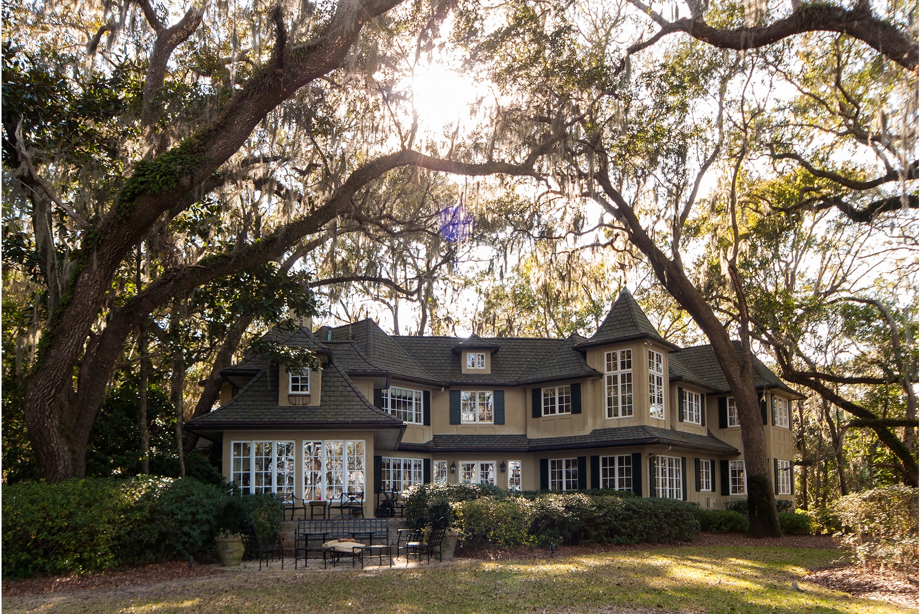 Single Family Home for Sale at PRIVATE MANOR ON EXPANSIVE FORESTED BAYFRONT PROPERTY 422 Harstvedt Road Santa Rosa Beach, Florida 32459 United States