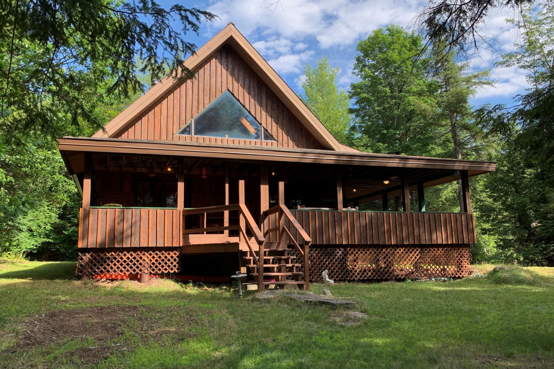 Single Family Homes for Sale at Serenity Calls from this Custom Built Home 316 Beaver Dam Rd. Schroon Lake, New York 12870 United States