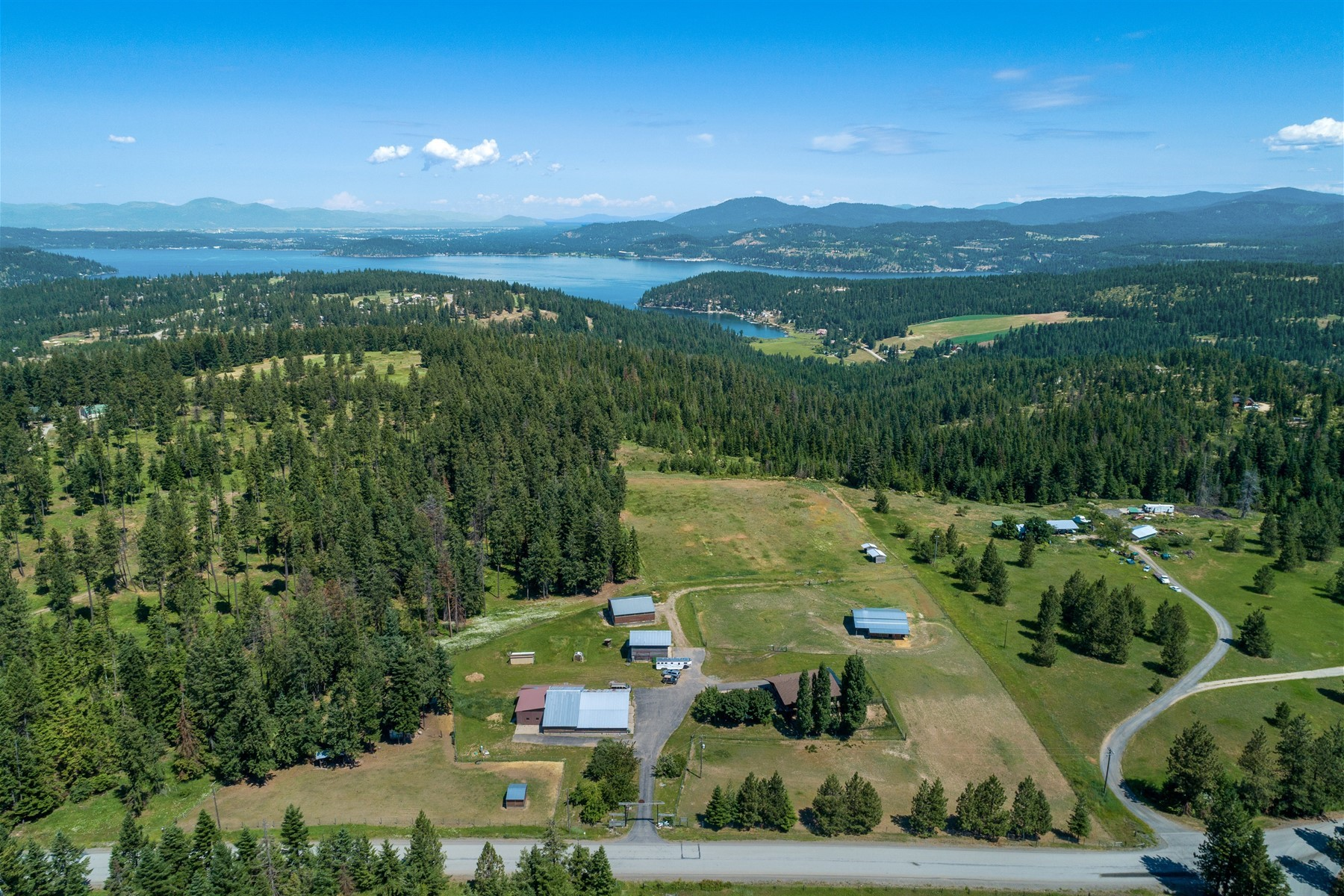 Single Family Homes for Sale at Amazing Grace Ranch with Lake Views 9660 S Gozzer Rd Harrison, Idaho 83833 United States