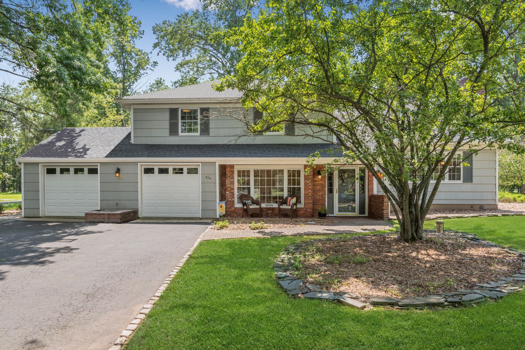 Single Family Homes for Sale at Spacious and Private 524 Spring Valley Drive Bridgewater, New Jersey 08807 United States