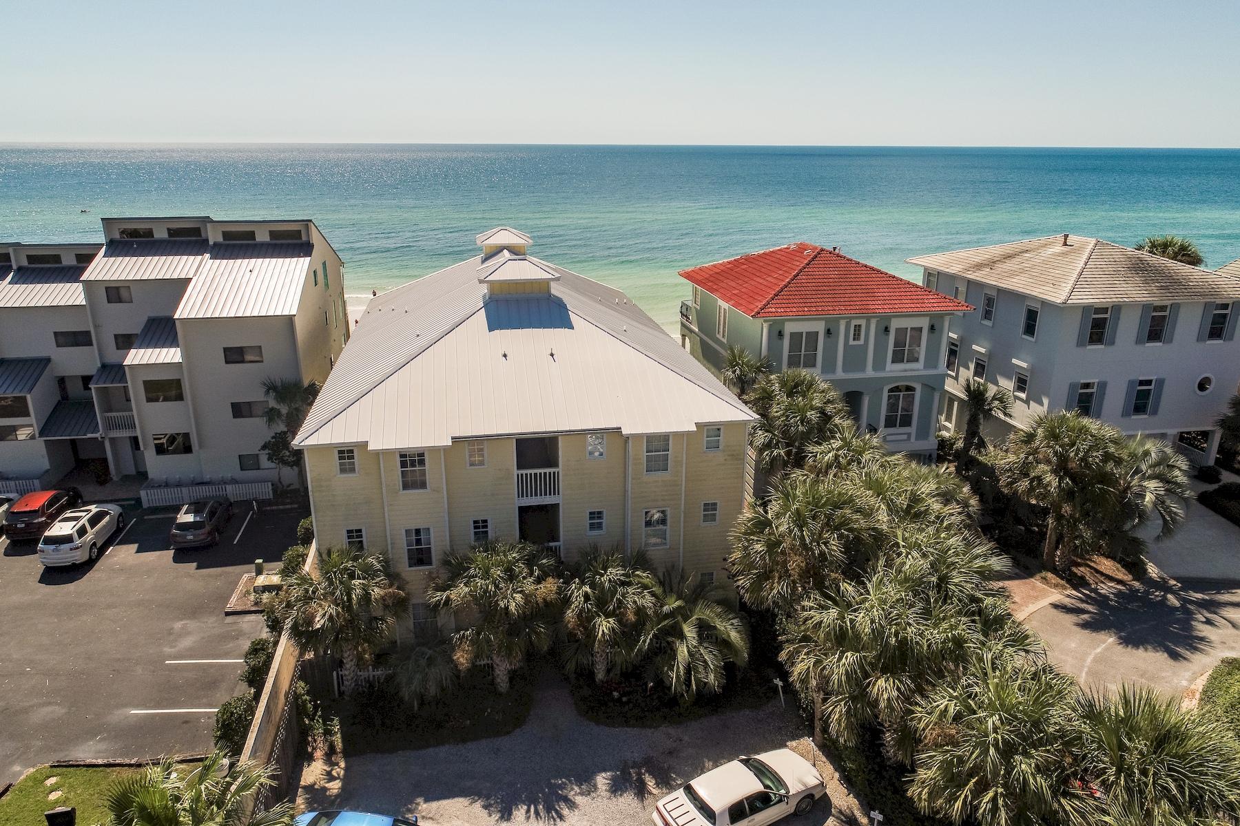 Condominium for Sale at Gulf Front Condo in Private Building in Blue Mountain Beach 178 Blue Mountain Road Unit 9, Santa Rosa Beach, Florida, 32459 United States