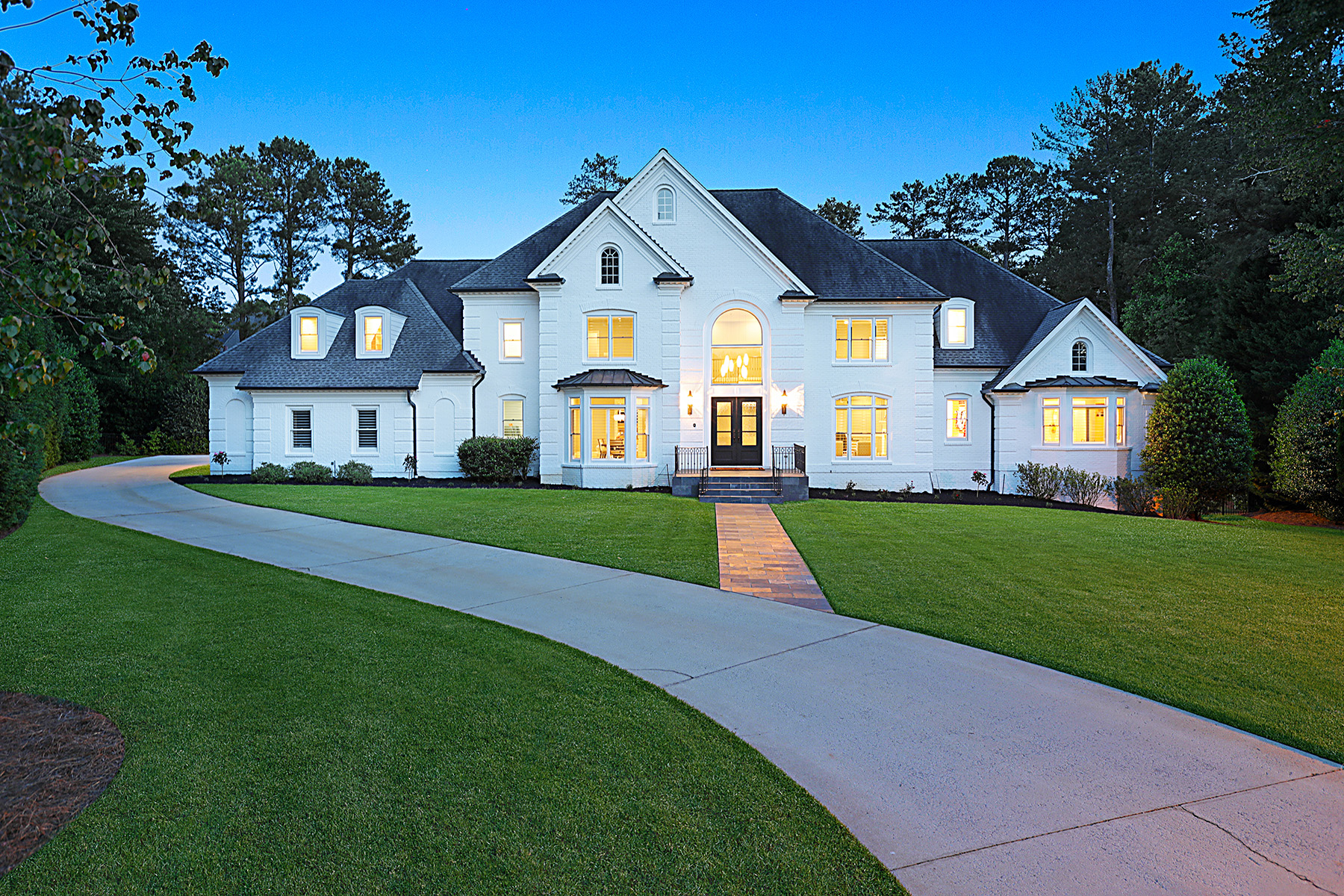 Single Family Homes for Sale at Extraordinary Fully Renovated Masterpiece in Country Club of the South 1007 Featherstone Road Johns Creek, Georgia 30022 United States