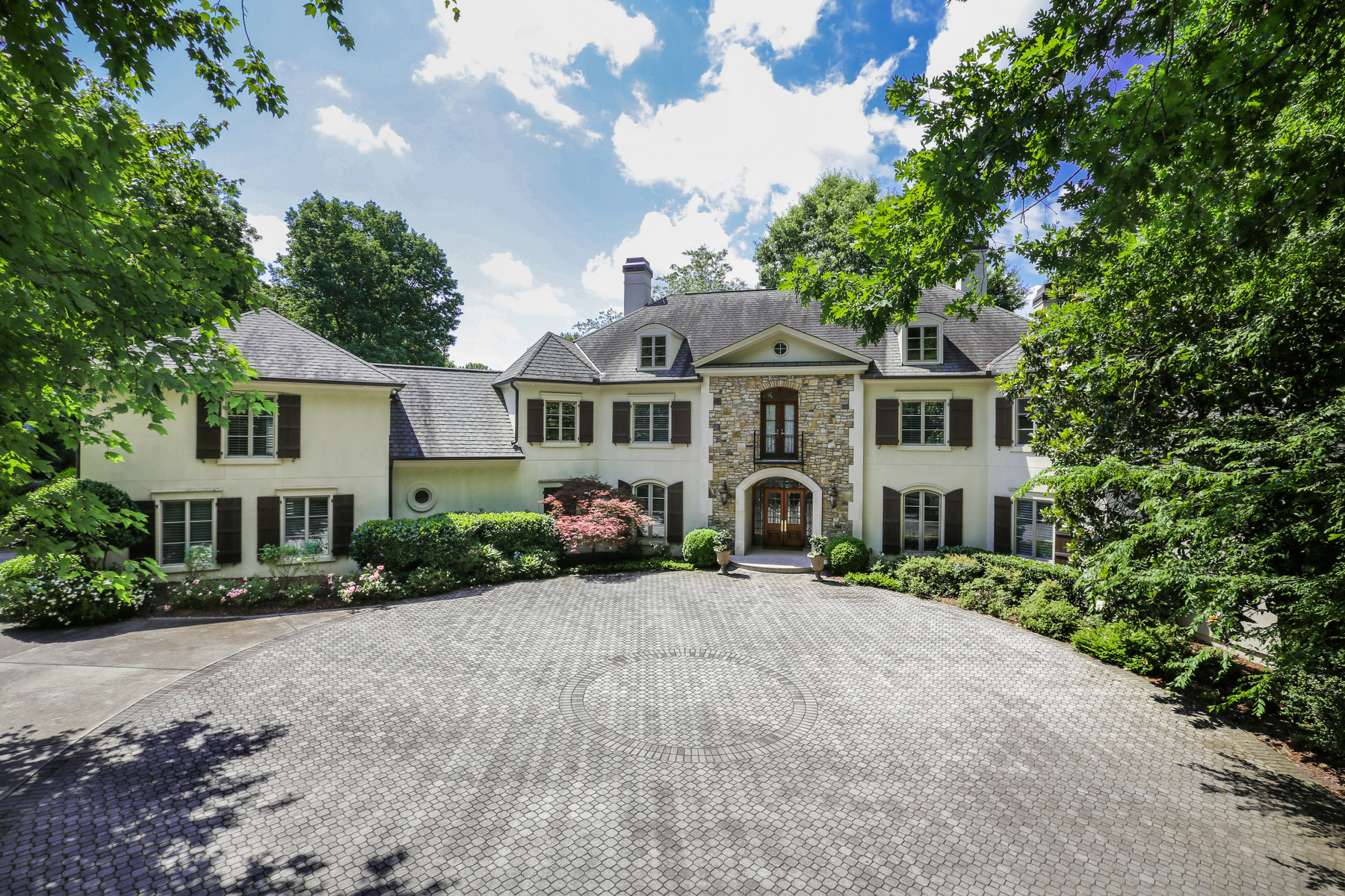 Single Family Homes for Sale at Custom Estate Sits on 2.6+/- Acres in Sandy Springs 1370 Indian Trail Sandy Springs, Georgia 30327 United States