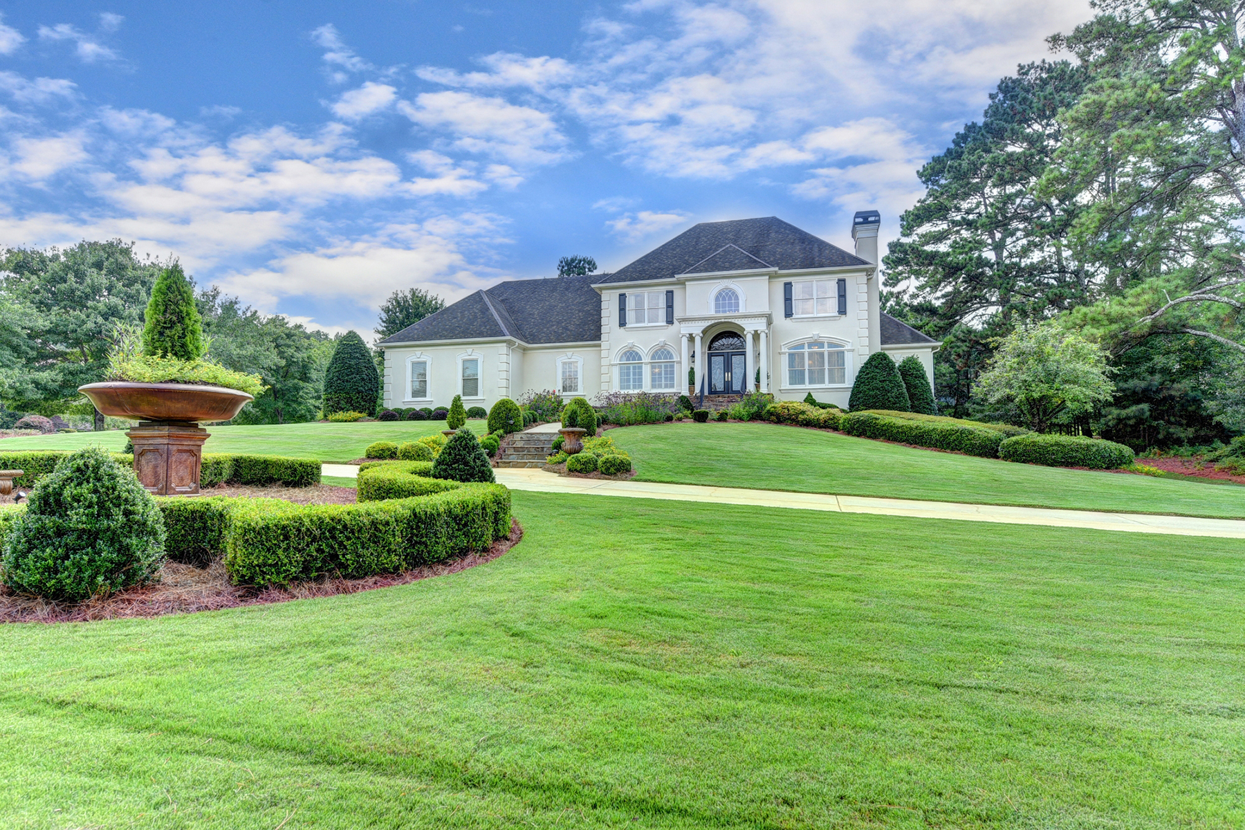 Single Family Home for Sale at Grand Estate Situated On The Corner Of Two Fabulous Lots Adjacent To Greenspace 8440 Saint Marlo Fairway Dr Duluth, Georgia 30097 United States
