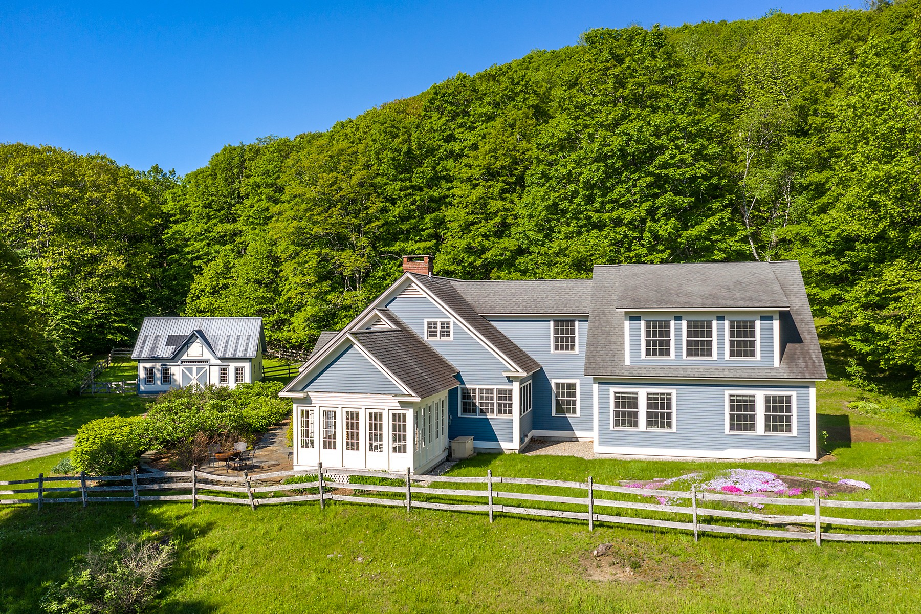 single family homes for Sale at Contemporary Cape with Pastoral Views 982 Old Stage Rd Chester, Vermont 05143 United States