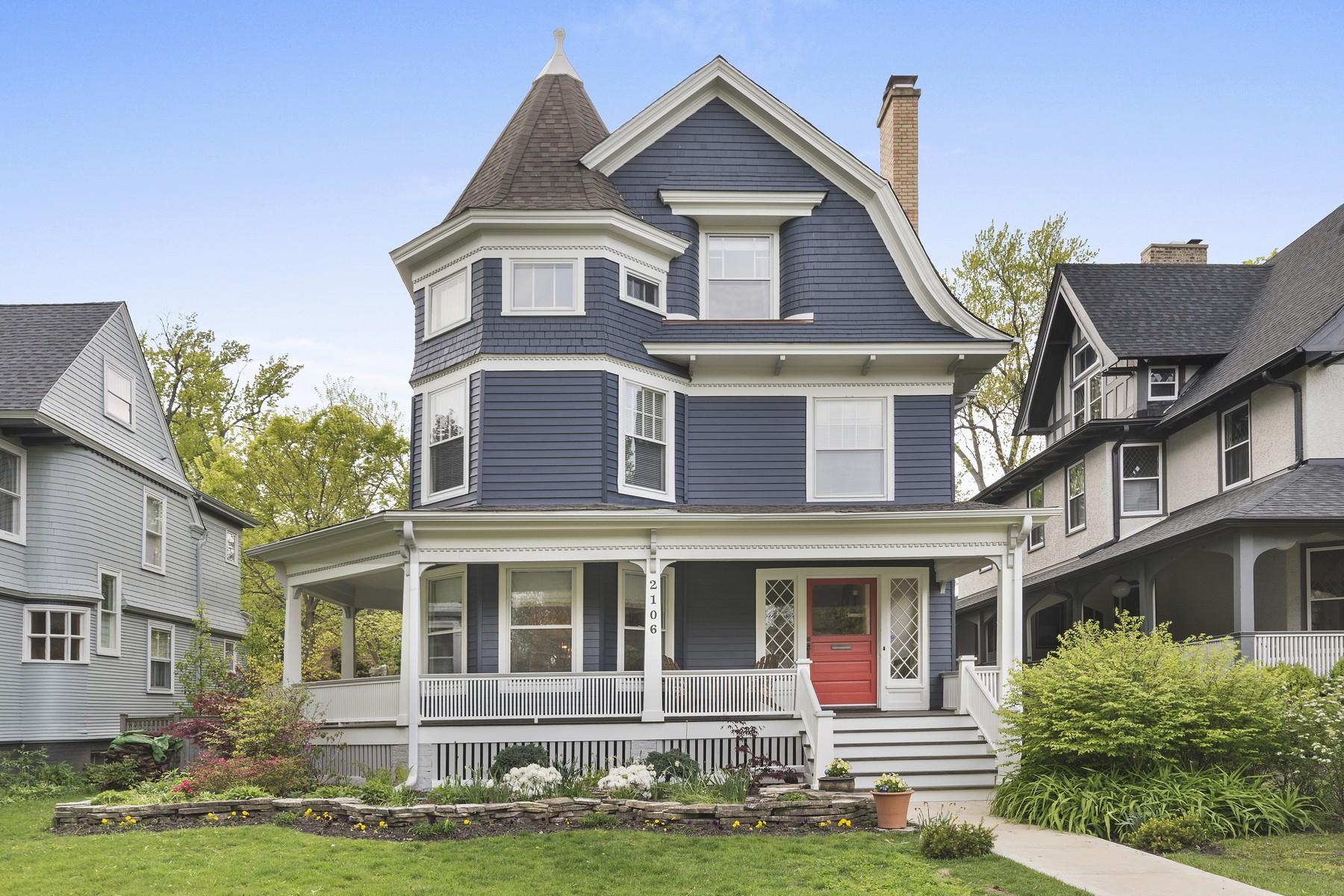 Single Family Home for Sale at Superb Queen Anne Victorian 2106 Orrington Avenue Evanston, Illinois 60201 United States