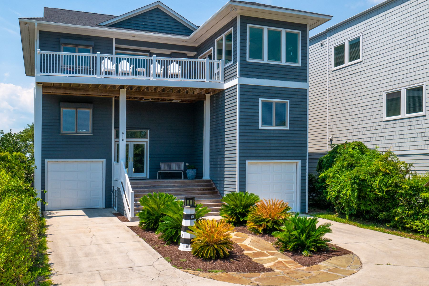 Single Family Homes for Sale at Spectacular Sound Front Home 410 C N Anderson Boulevard Topsail Beach, North Carolina 28445 United States