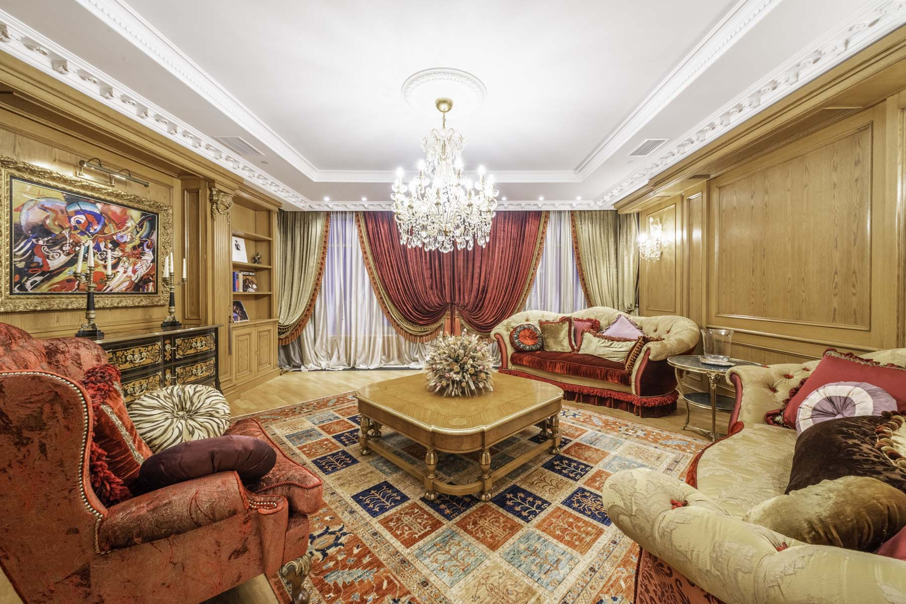 """Apartments 为 出租 在 Luxury 11-room apartment in the Residential Complex """"Triumph Palace"""" Moscow, 俄罗斯的其他地区 俄罗斯"""
