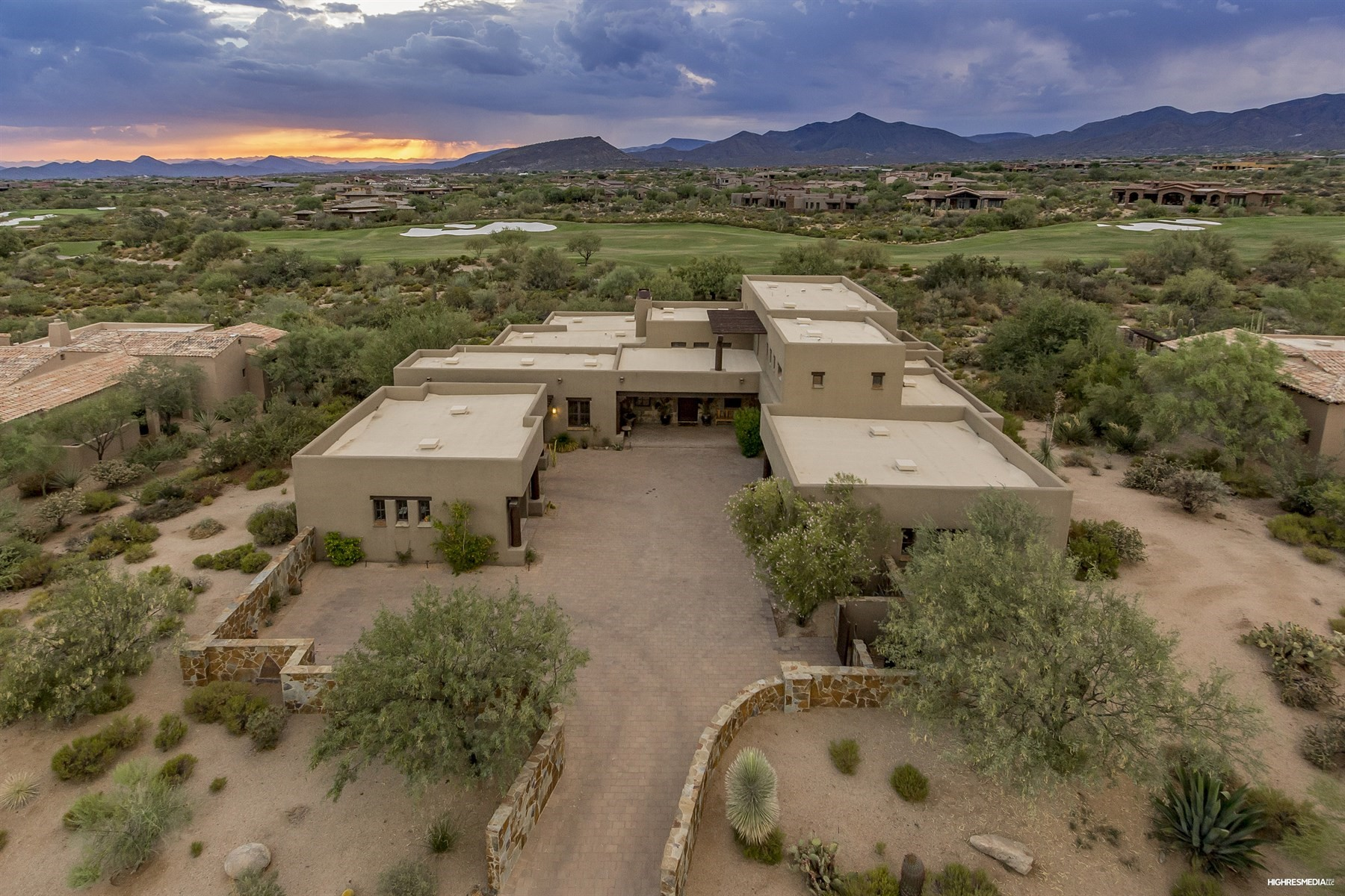 Single Family Home for Sale at Custom residence Perched above the award-winning Mirabel Golf course 10970 E Wildcat Hill Rd, Scottsdale, Arizona, 85262 United States