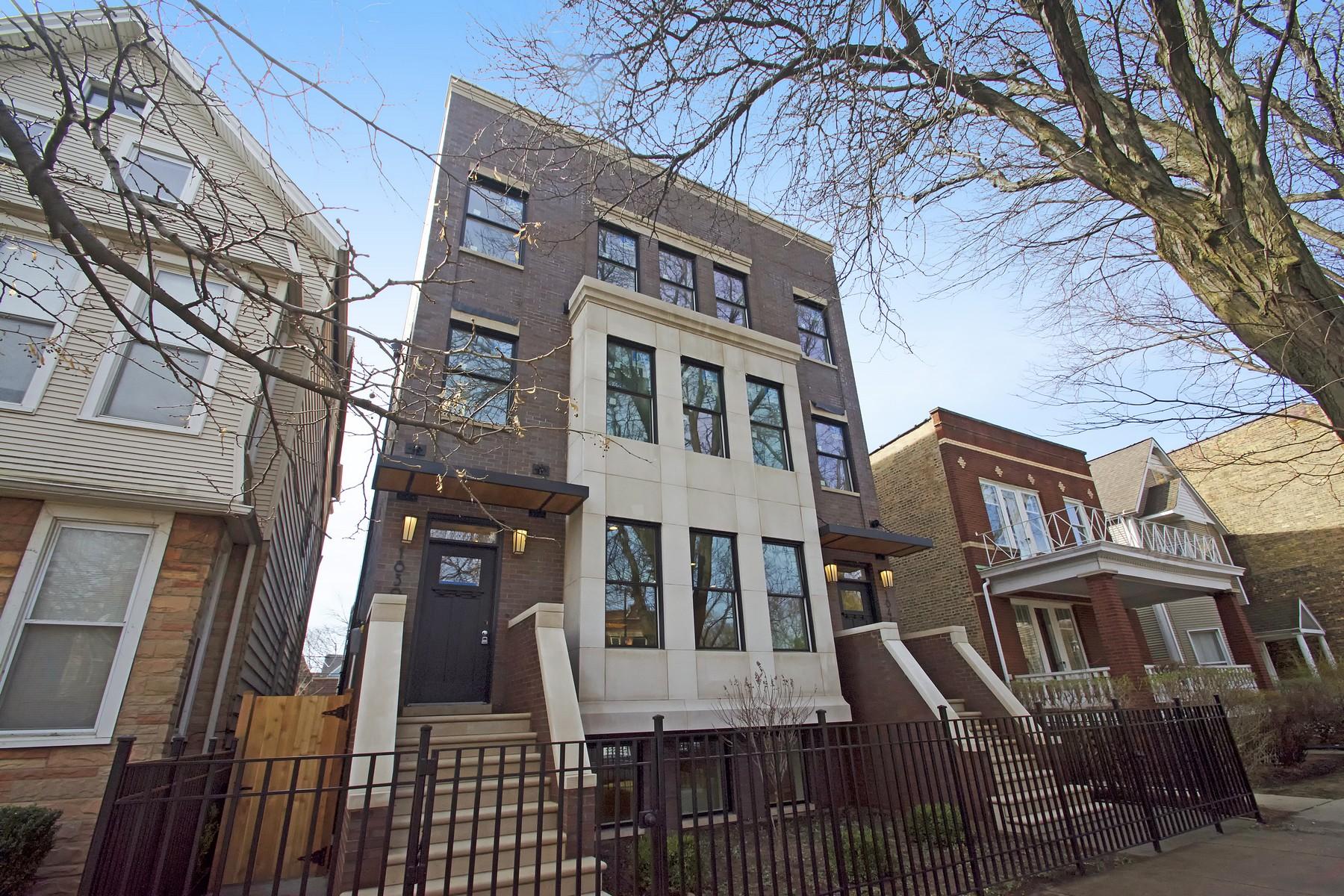獨棟家庭住宅 為 出售 在 New Construction Palatial Home 1839 W Addison Street Chicago, 伊利諾斯州, 60613 美國