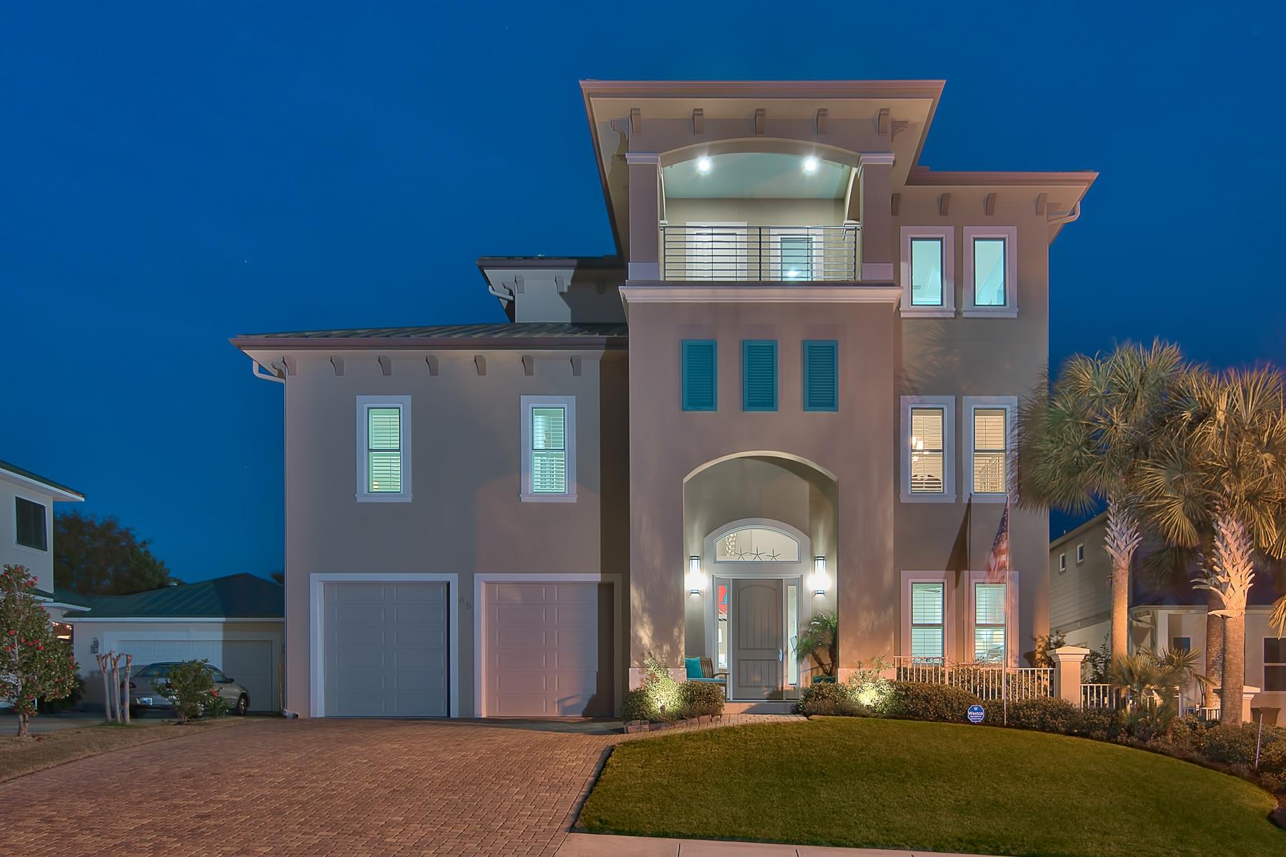 단독 가정 주택 용 매매 에 Contemporary Concrete Construction with Proven Rental History 65 Siesta Bluff, Destin, 플로리다, 32541 미국