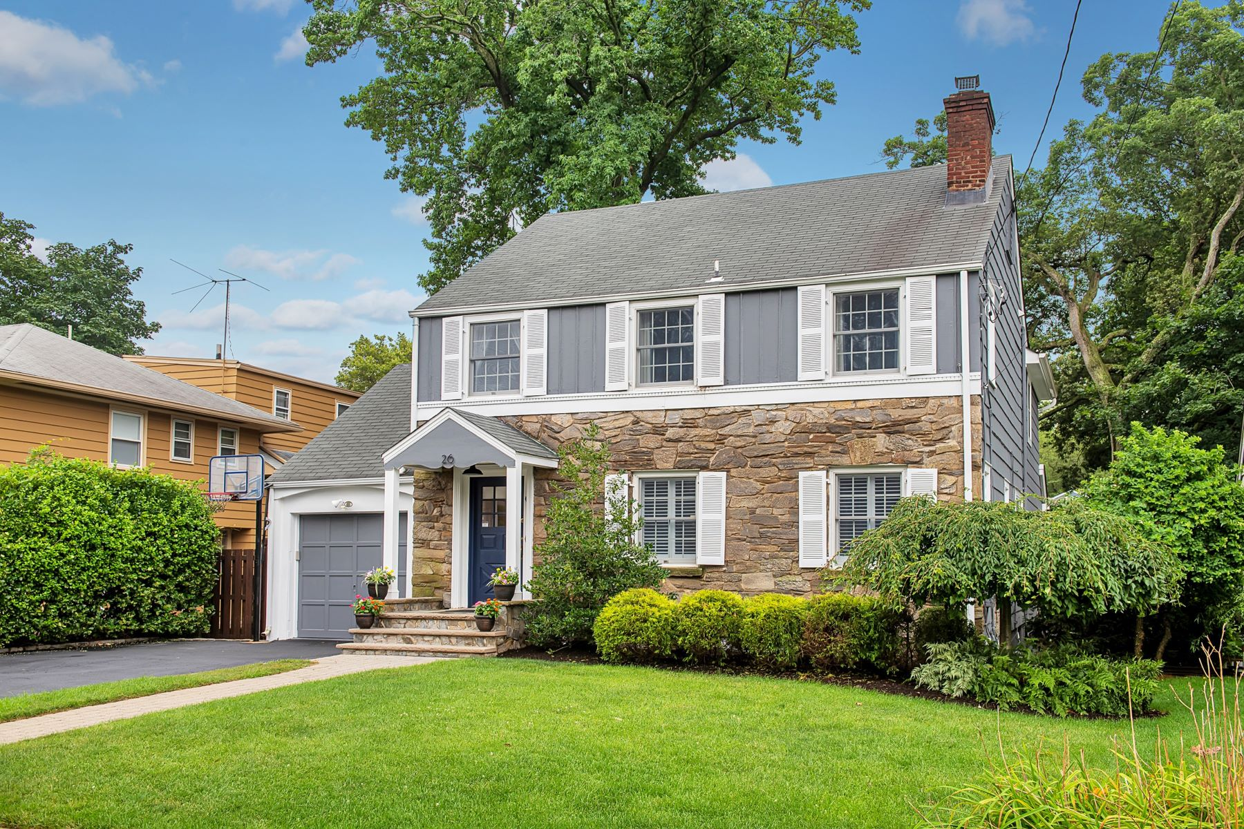 Single Family Homes for Sale at Perfect Center Hall Colonial 26 Greenwood Drive Millburn, New Jersey 07041 United States
