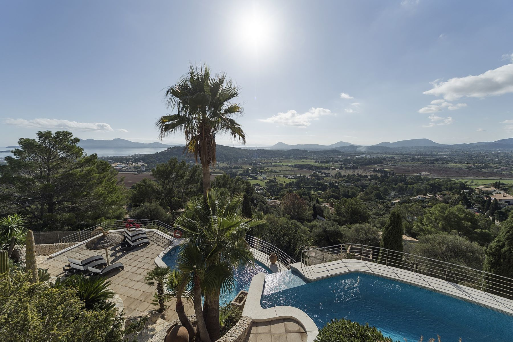 Single Family Home for Sale at Hilltop villa overlooking whole Puerto Pollensa Other Spain, Other Areas In Spain, Spain