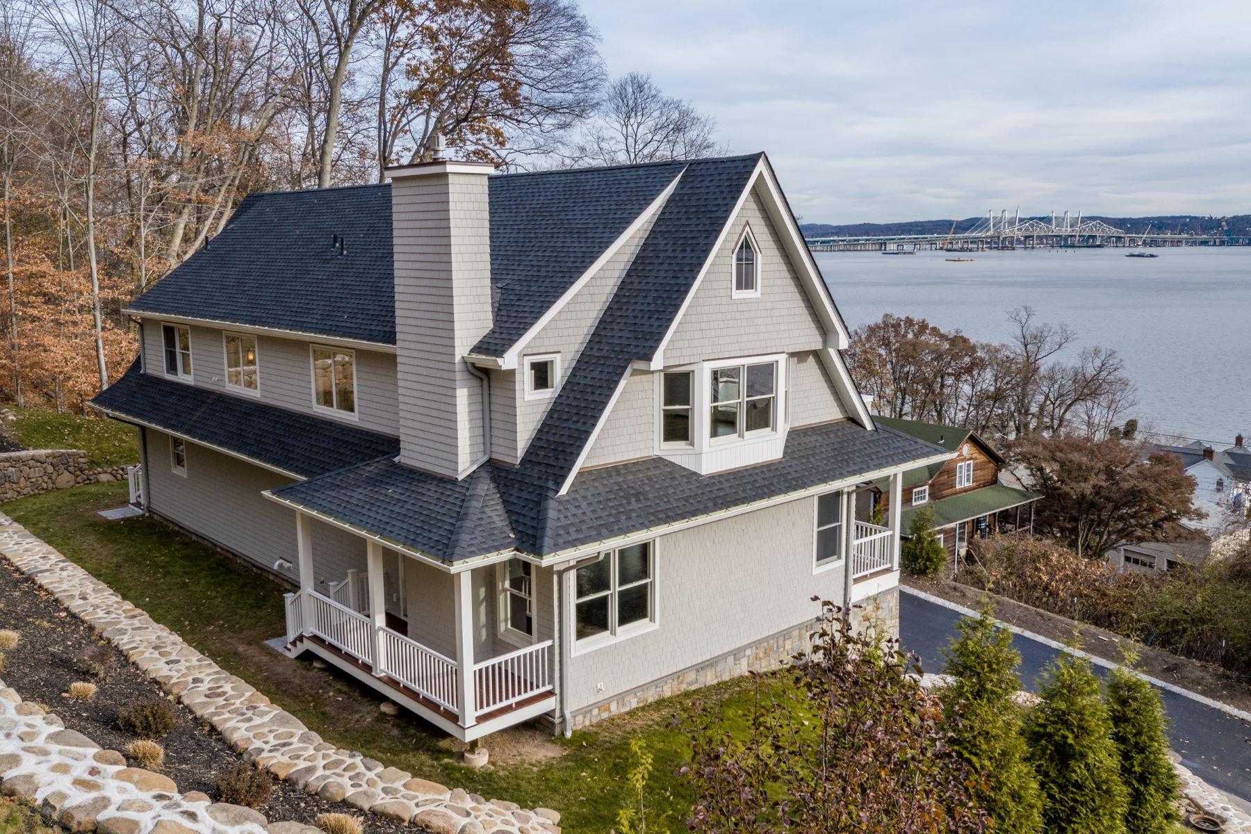 واحد منزل الأسرة للـ Sale في Panoramic Hudson River Views - New Custom Colonial 28 Stevenson Street Piermont, New York 10968 United States