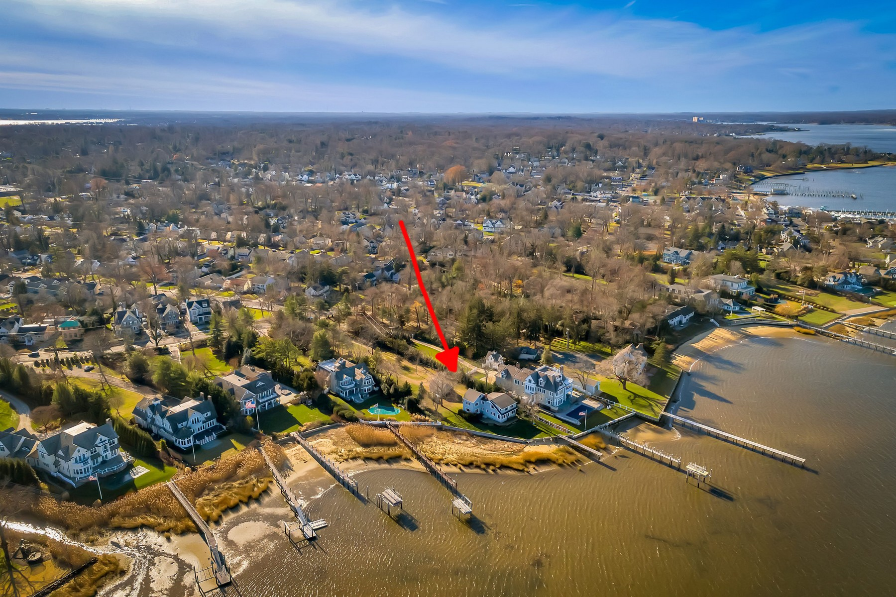 Single Family Homes for Sale at Navesink Riverfront 56 E River Road Rumson, New Jersey 07760 United States