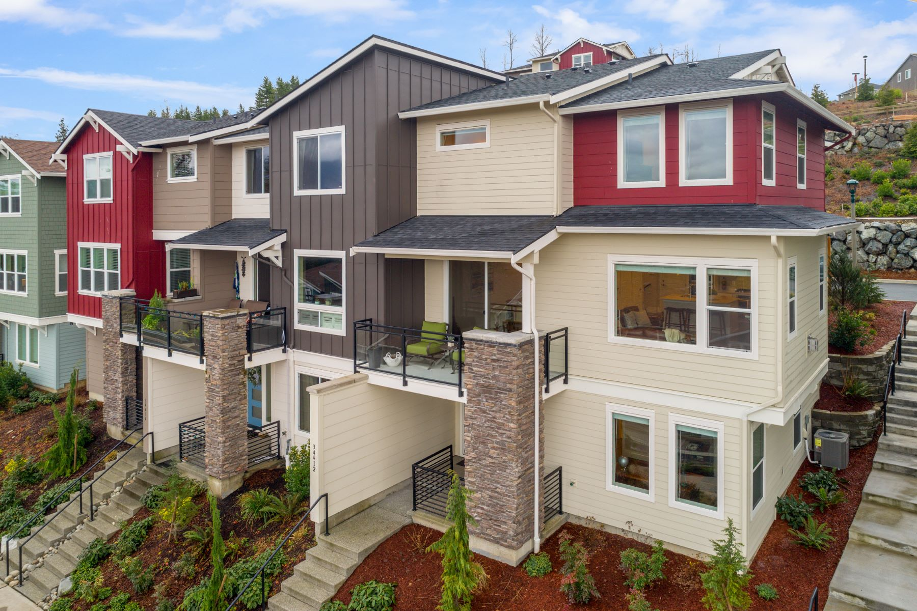 townhouses for Sale at Highland Vistas on Snoqualmie Ridge 34412 SE Groshell St Snoqualmie, Washington 98065 United States