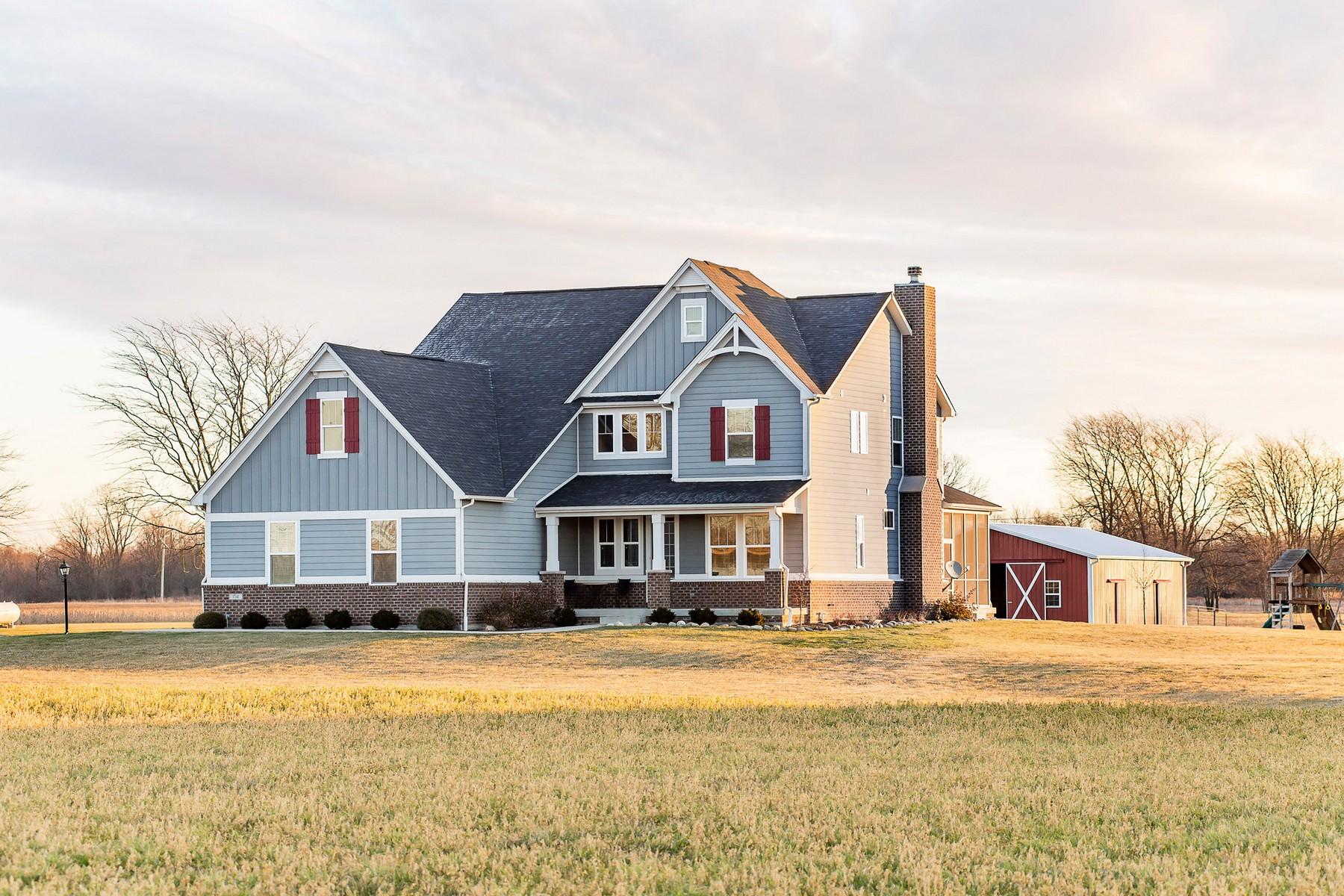 Vivienda unifamiliar por un Venta en Stunning Home on over 8 acres in Zionsville 1541 S 825 E, Zionsville, Indiana, 46077 Estados Unidos
