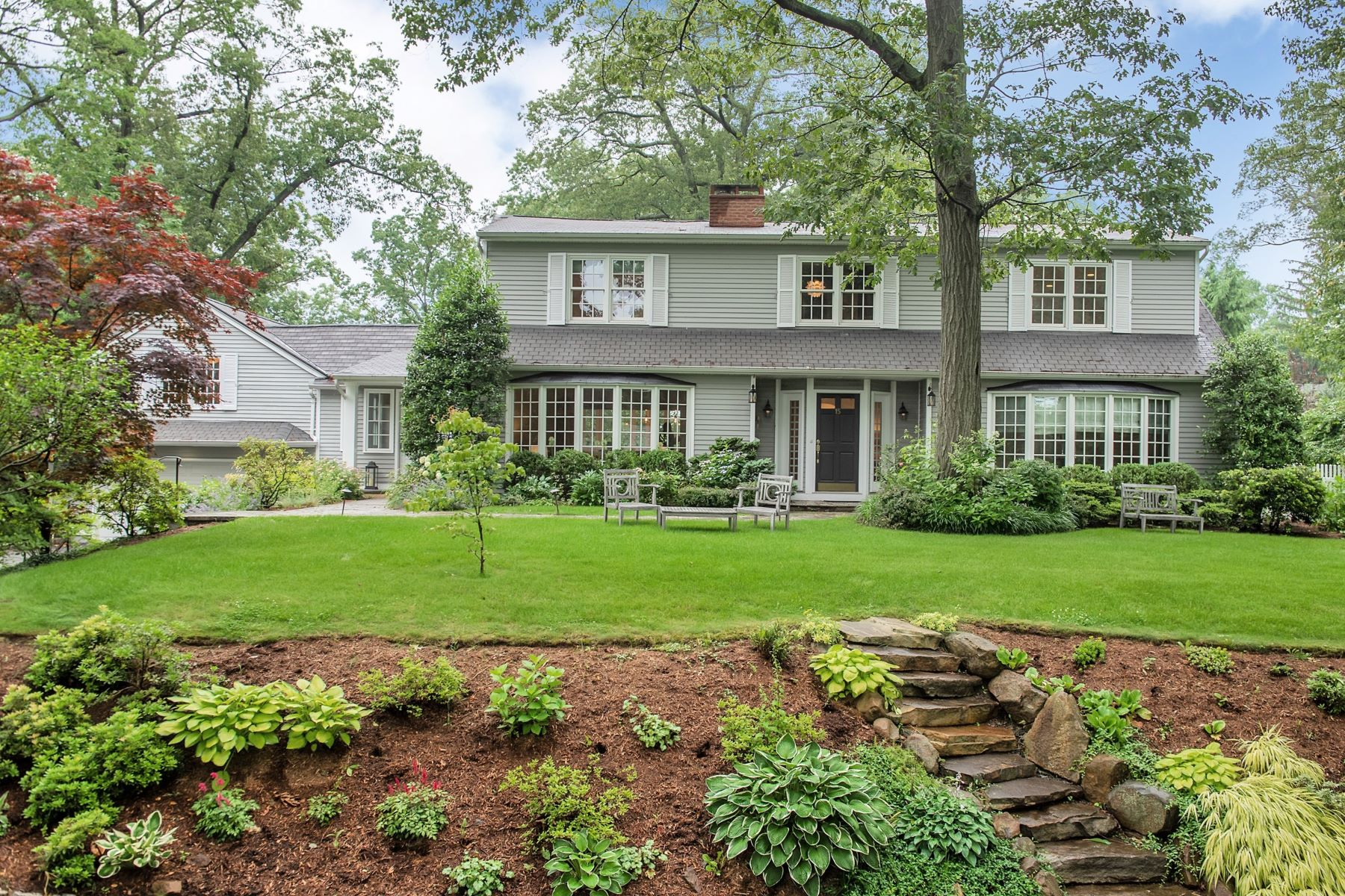 Single Family Homes for Sale at Stunning Colonial 15 Manor Hill Road Summit, New Jersey 07901 United States