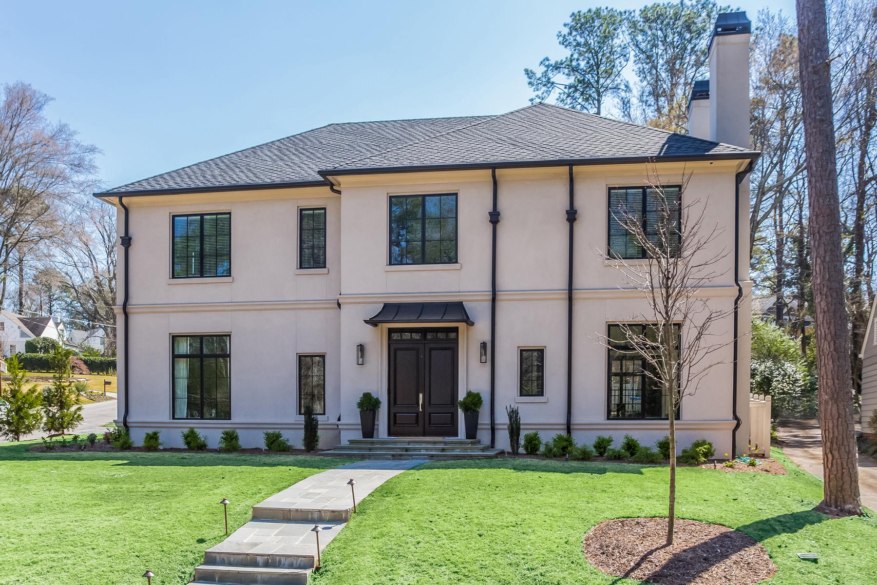 Eensgezinswoning voor Verkoop een t Incredible Buckhead Dream Home 779 Greenview Avenue NE Atlanta, Georgië 30305 Verenigde Staten