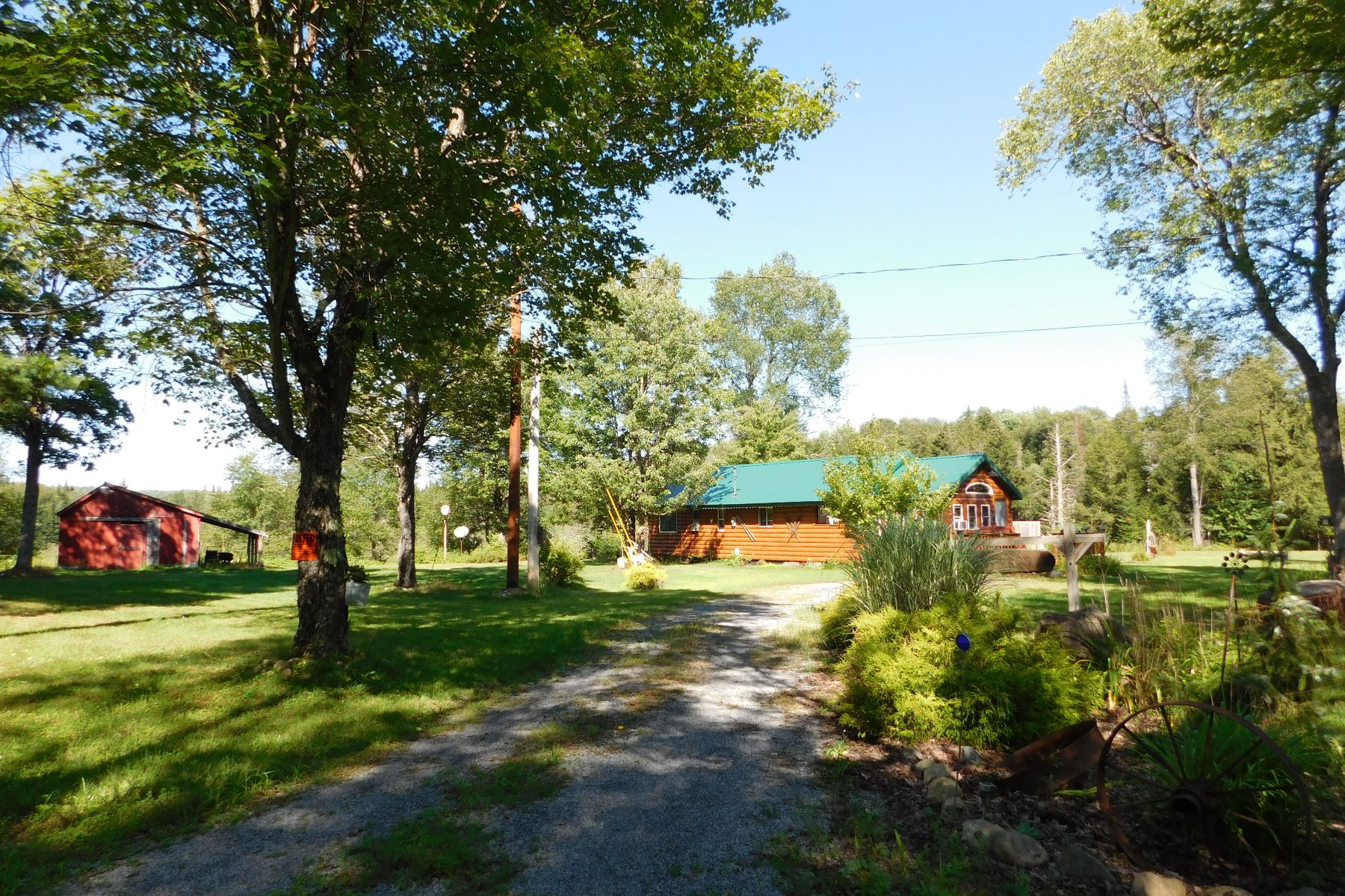 Single Family Homes for Sale at Year round log sided cabin 5071 Sears Rd Woodgate, New York 13494 United States