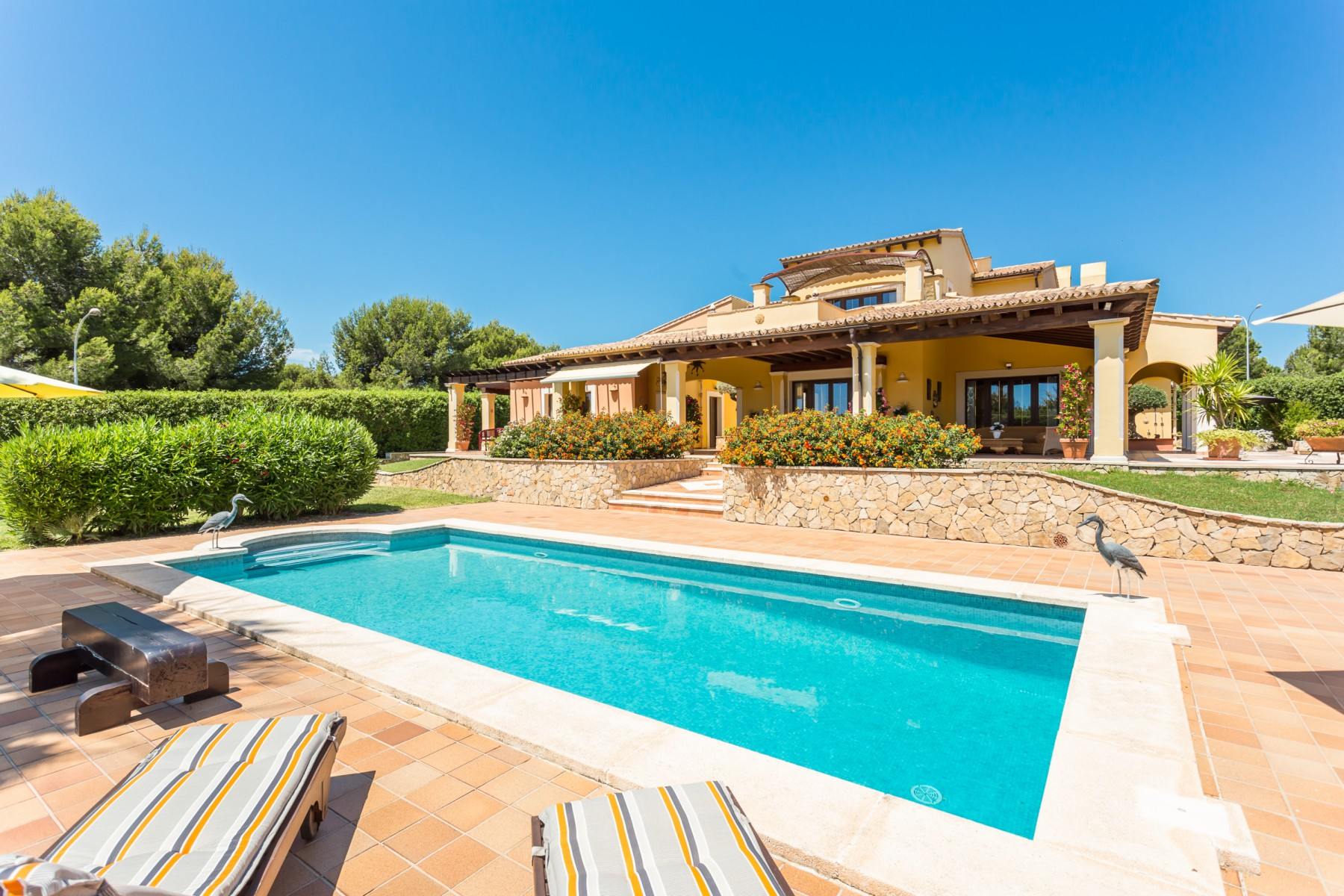 Single Family Home for Sale at Lovely property between golf course and the sea Nova Santa Ponsa, Mallorca, Spain