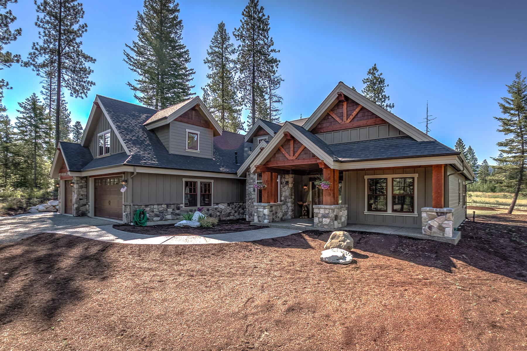 Casa Unifamiliar por un Venta en Saddle Ridge Home 340 Gallop Cir Sagle, Idaho, 83860 Estados Unidos