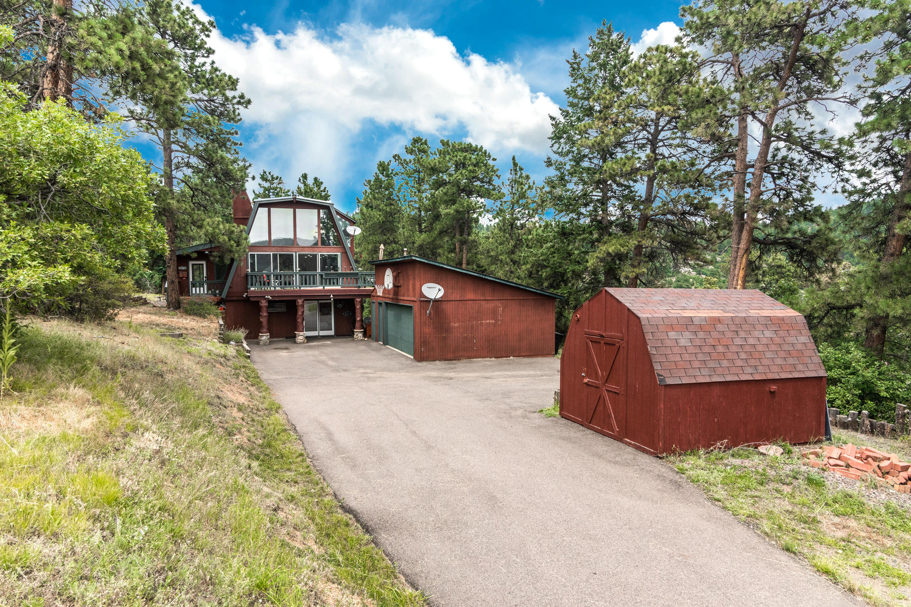 Single Family Homes for Sale at Mtn Contemporary with Captivating & Peaceful Panoramic Mtn Vistas 6396 High Drive, Morrison, Colorado 80465 United States