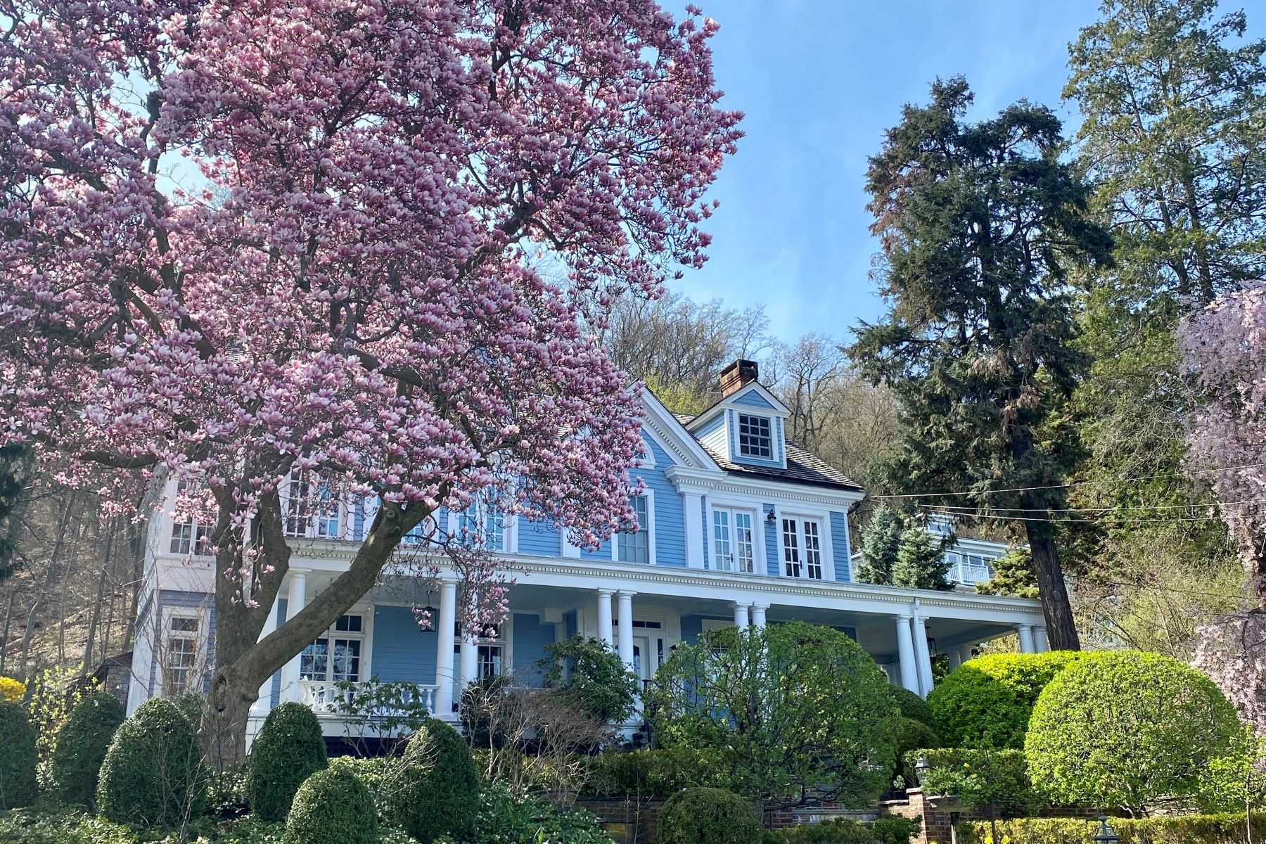 Single Family Homes for Sale at Hudson River Valley Greek Revival 245 River Road Grandview, New York 10960 United States
