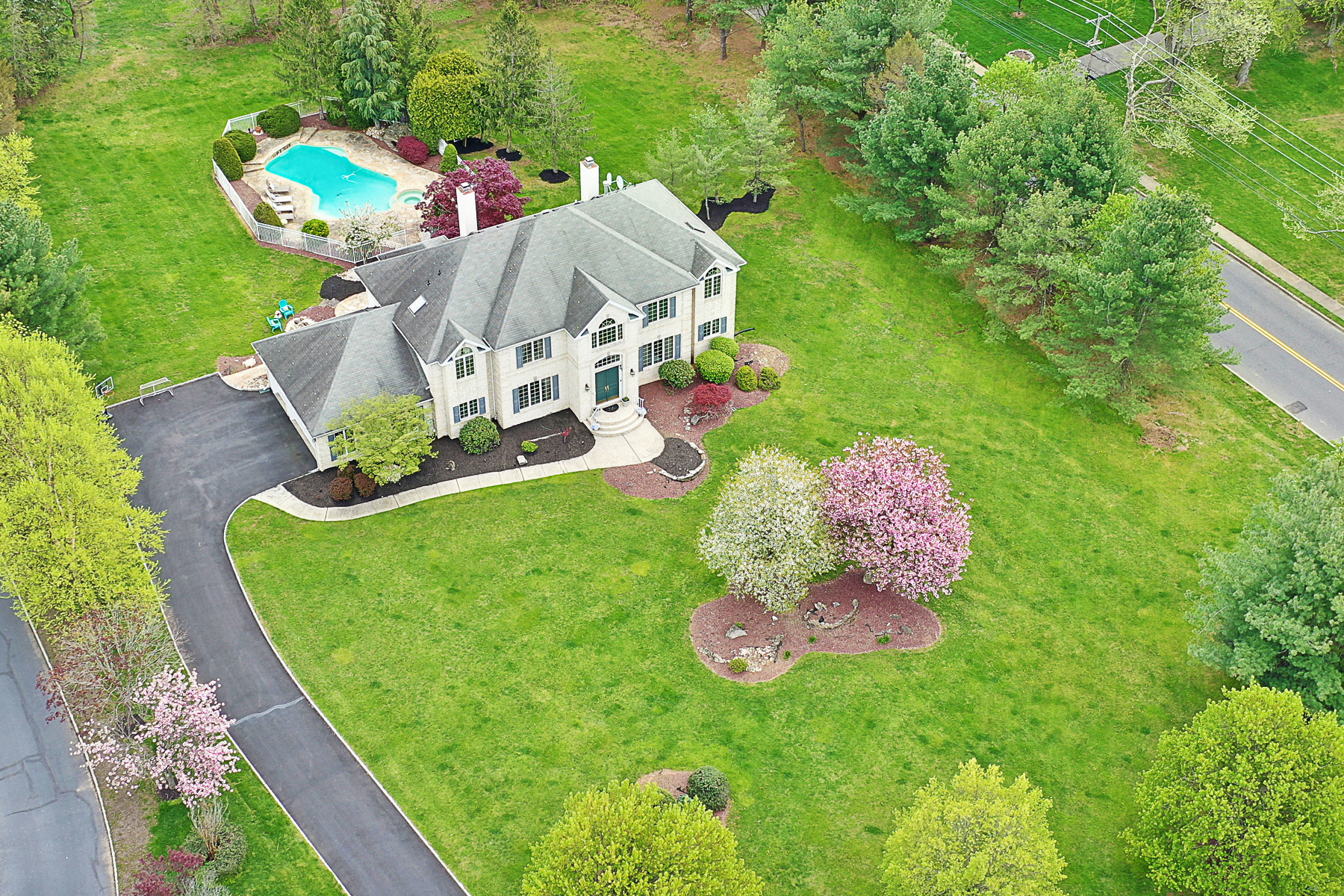 Single Family Homes for Sale at Exceptional Brick Colonial 2 Bordeaux Lane Holmdel, New Jersey 07733 United States