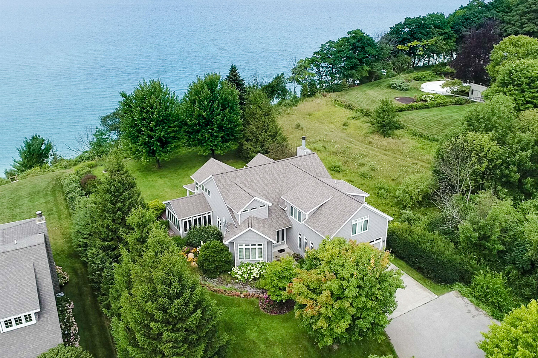 Single Family Homes for Sale at Lake Michigan Waterfront Oasis 5065 Anderfind Dr Ludington, Michigan 49431 United States