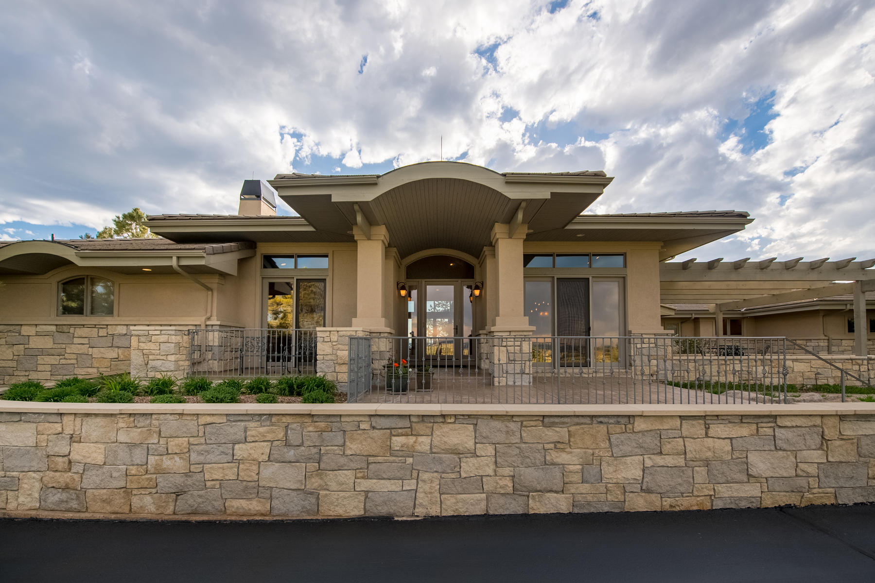 Single Family Home for Active at Built at the end of a private drive, on one of the premier lots in Castle Pines. 601 Cliffgate Ln Castle Rock, Colorado 80108 United States