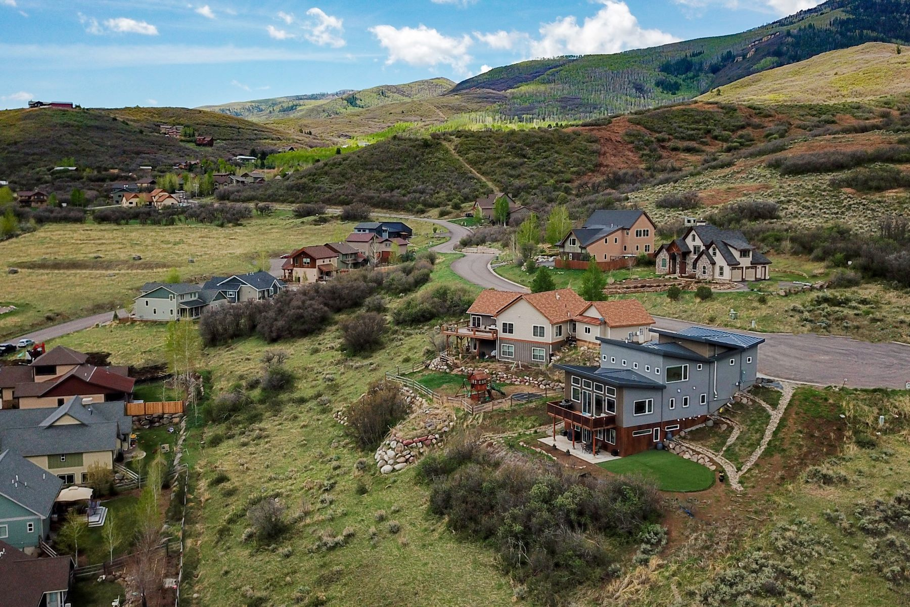 Single Family Homes for Sale at Contemporary Oak Meadows Home 639 Old Midland Spur Glenwood Springs, Colorado 81601 United States
