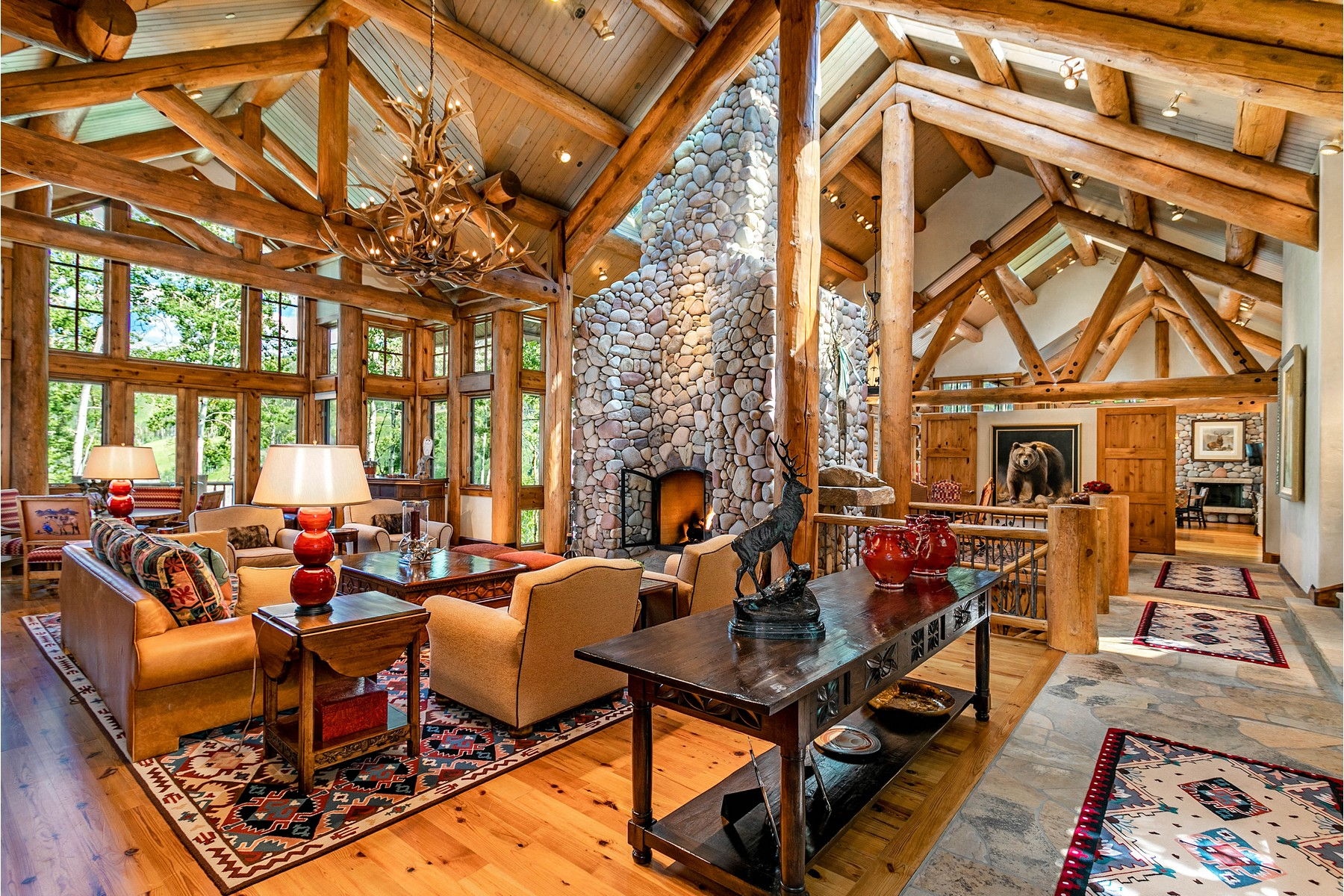Single Family Home for Active at Architectural Log Masterpiece 246 Strawberry Park Court Beaver Creek, Colorado 81620 United States