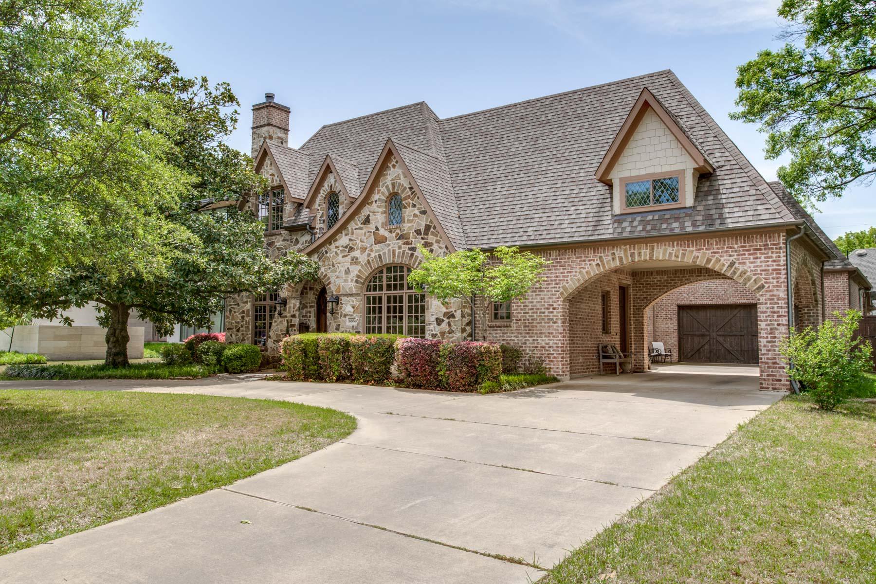 独户住宅 为 销售 在 Preston Hollow Traditional 6804 Chevy Chase Avenue, 达拉斯, 得克萨斯州, 75225 美国