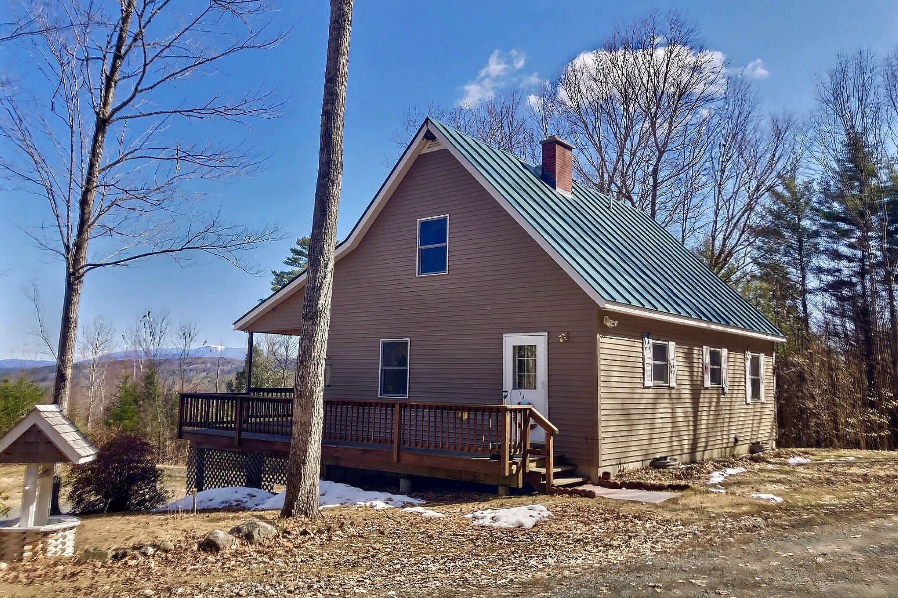 Single Family Homes for Sale at Three Bedroom Cape on 47 Acres 1158 Tenney Pond Road Newbury, Vermont 05051 United States