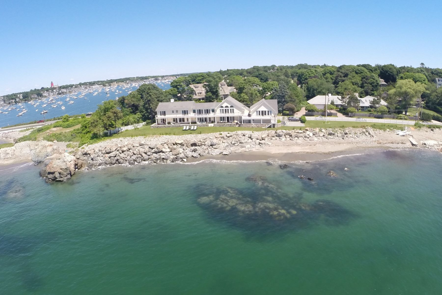 Single Family Homes for Active at Spectacular Beach Front contemporary 201 Ocean Avenue Marblehead, Massachusetts 01945 United States