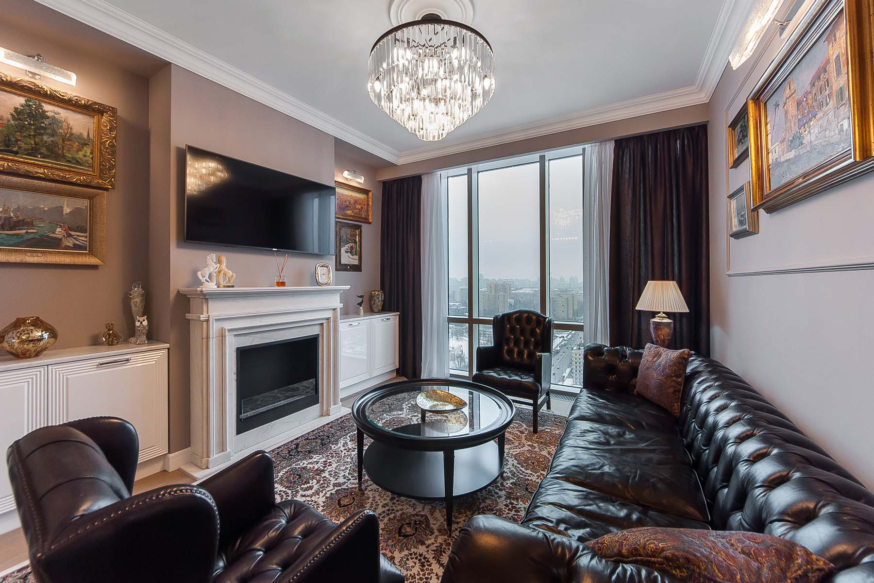 """Single Family Homes for Sale at Designer apartment щof100 sq.m. in the Residential Complex """"House on Mosfilmovsk Moscow, Moscow Russia"""