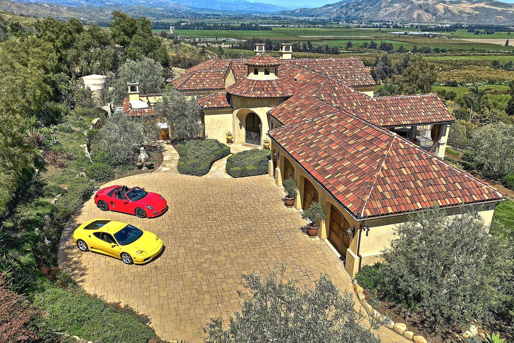 Single Family Homes for Sale at La Casa Dei Cuori Contenti 1240 Rancho Vista Lane Santa Paula, California 93060 United States